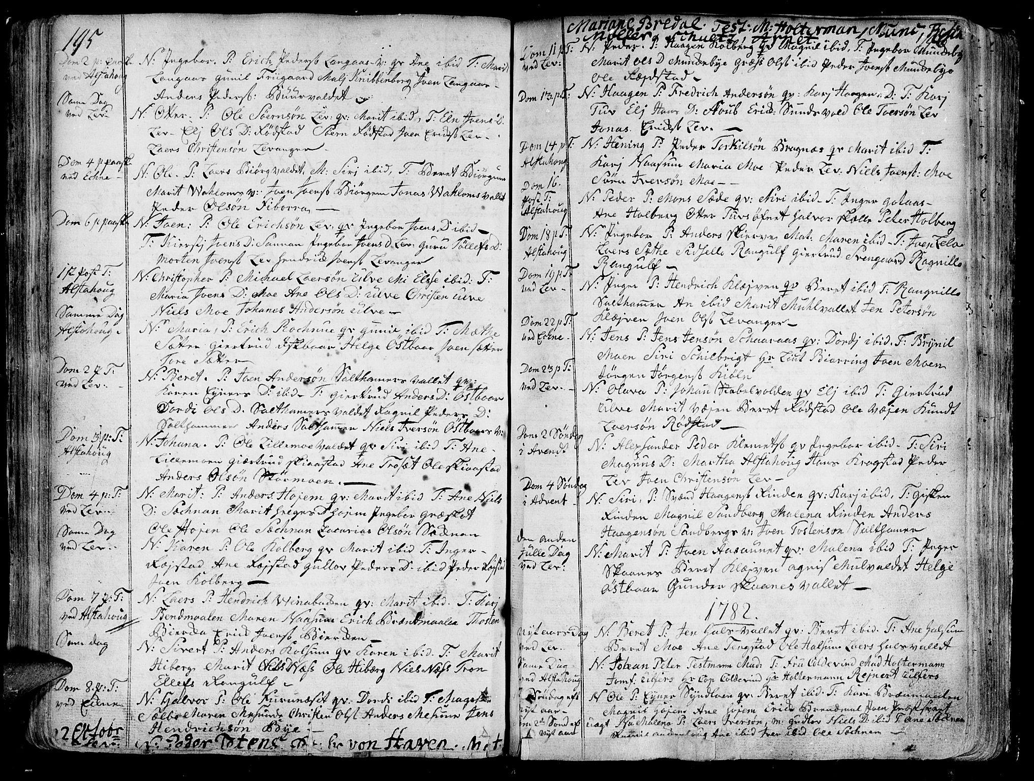 SAT, Ministerialprotokoller, klokkerbøker og fødselsregistre - Nord-Trøndelag, 717/L0141: Ministerialbok nr. 717A01, 1747-1803, s. 195-196