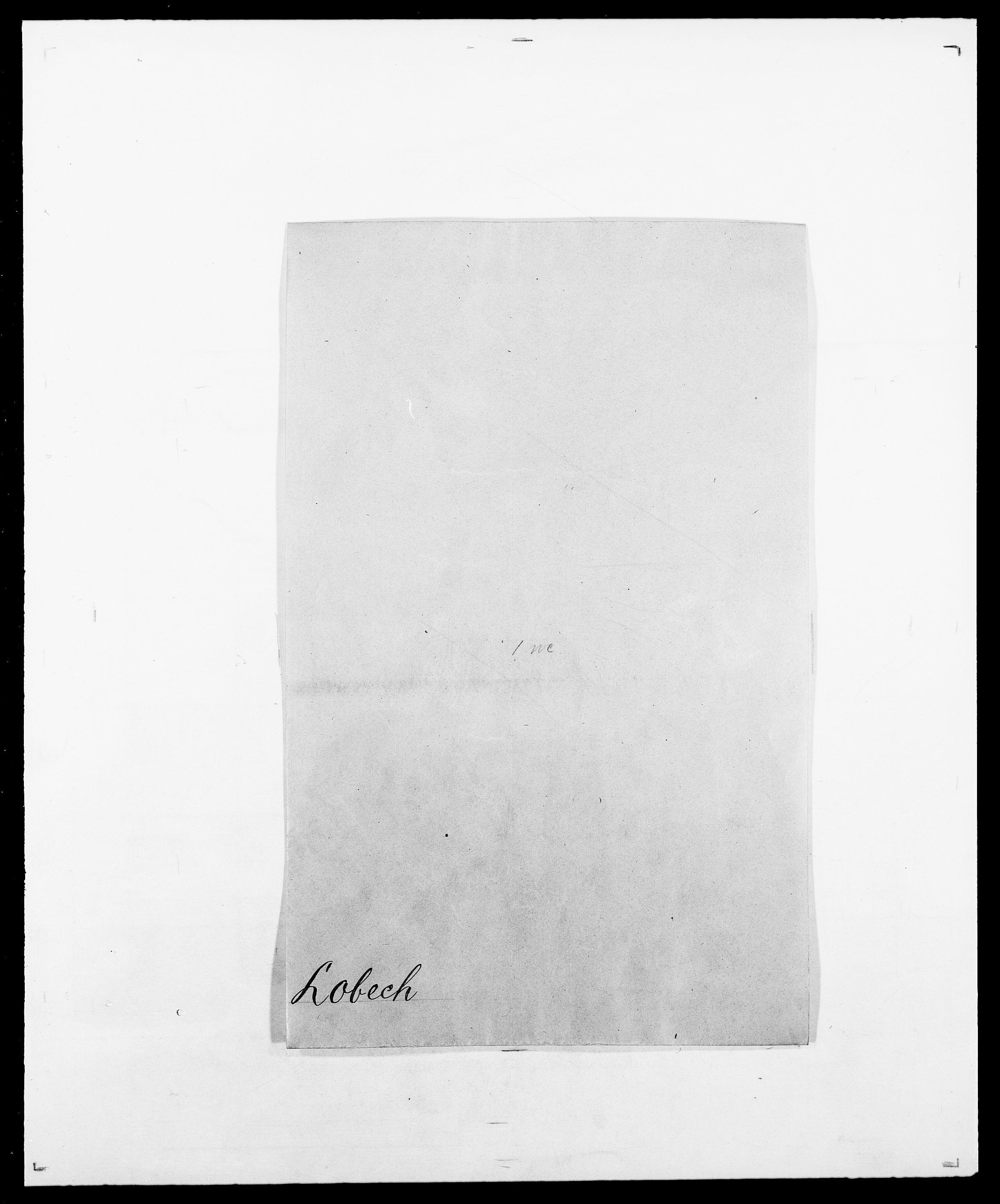 SAO, Delgobe, Charles Antoine - samling, D/Da/L0024: Lobech - Lærum, s. 1