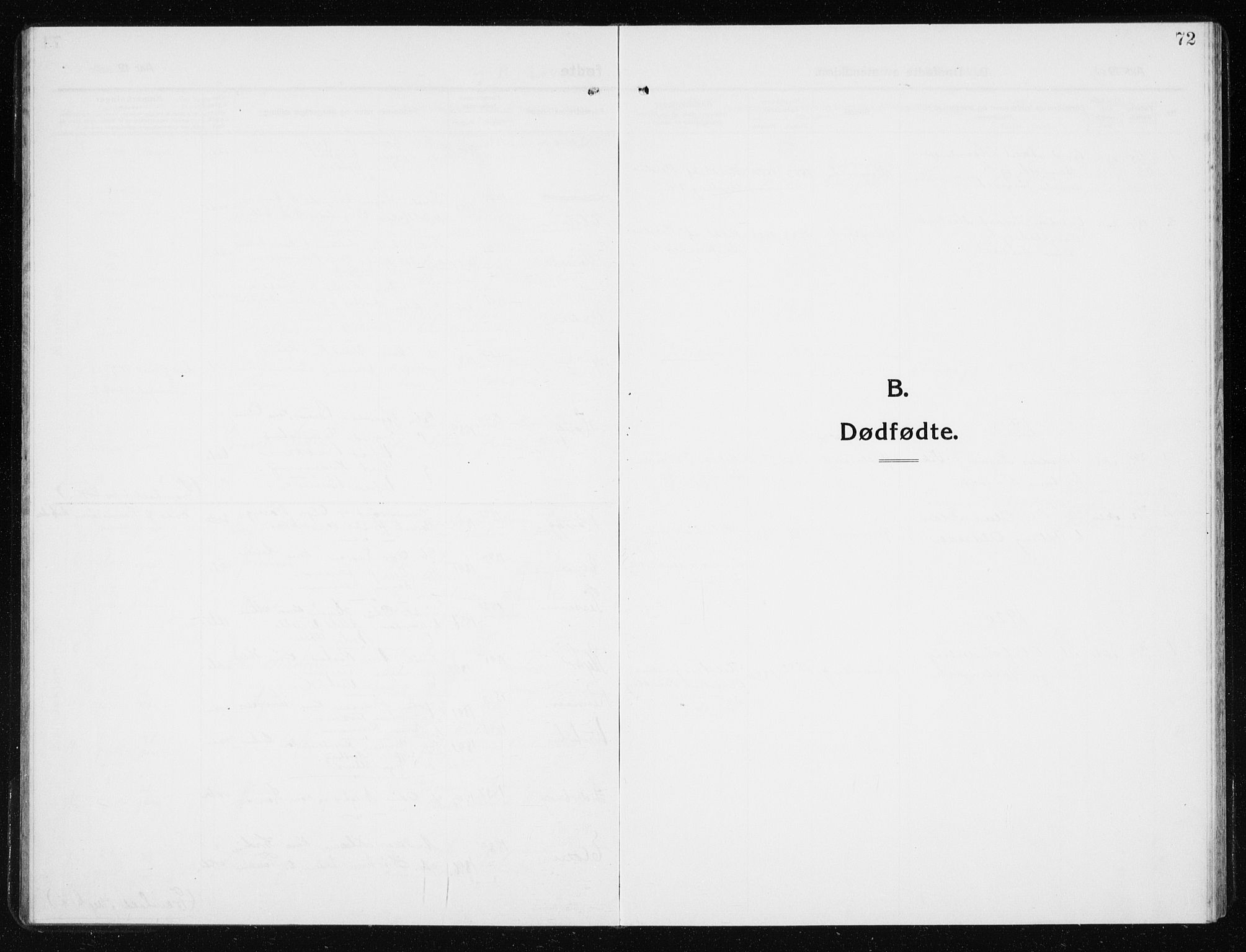 SAT, Ministerialprotokoller, klokkerbøker og fødselsregistre - Nord-Trøndelag, 741/L0402: Klokkerbok nr. 741C03, 1911-1926, s. 72