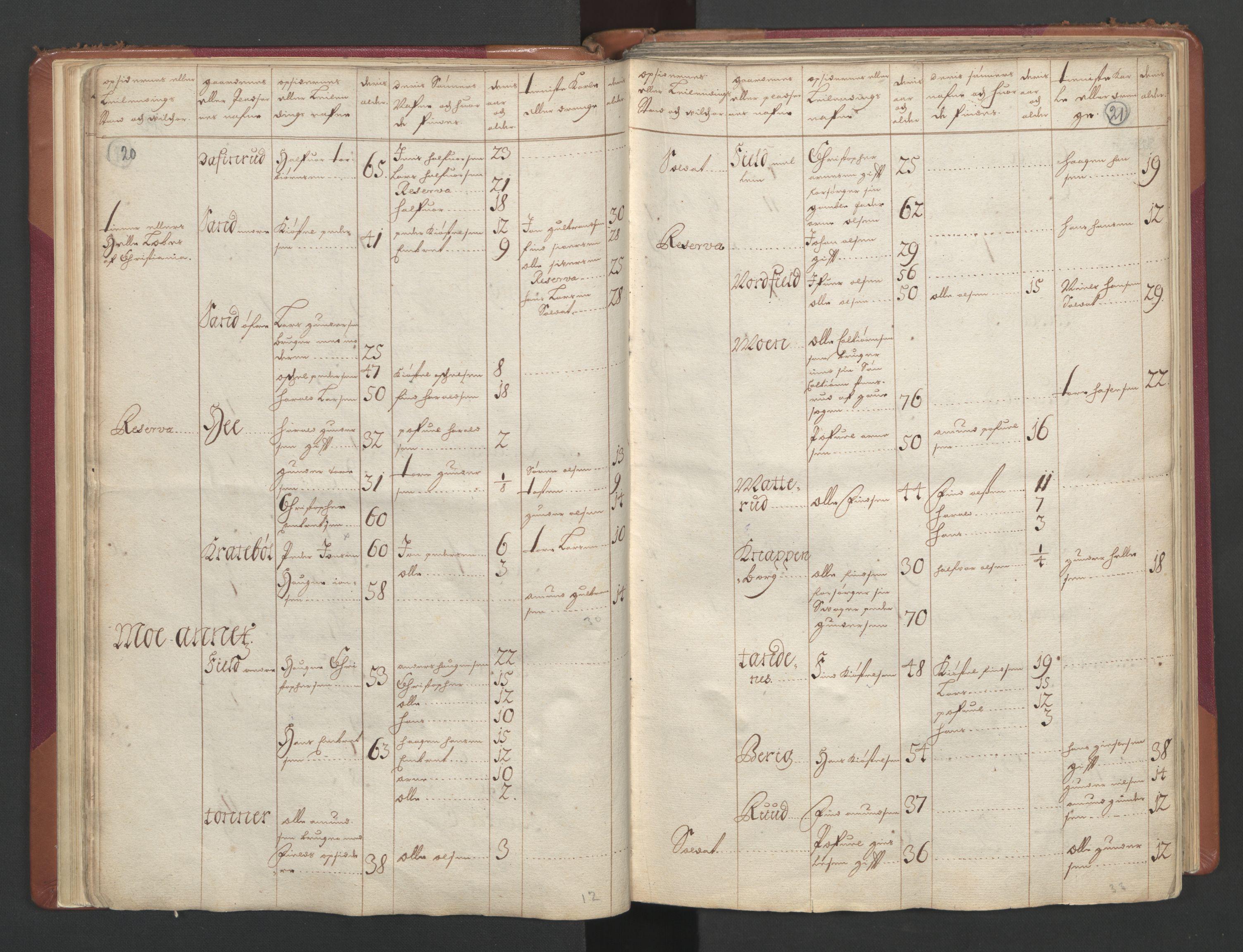 RA, Manntallet 1701, nr. 2: Solør, Odal og Østerdal fogderi og Larvik grevskap, 1701, s. 20-21