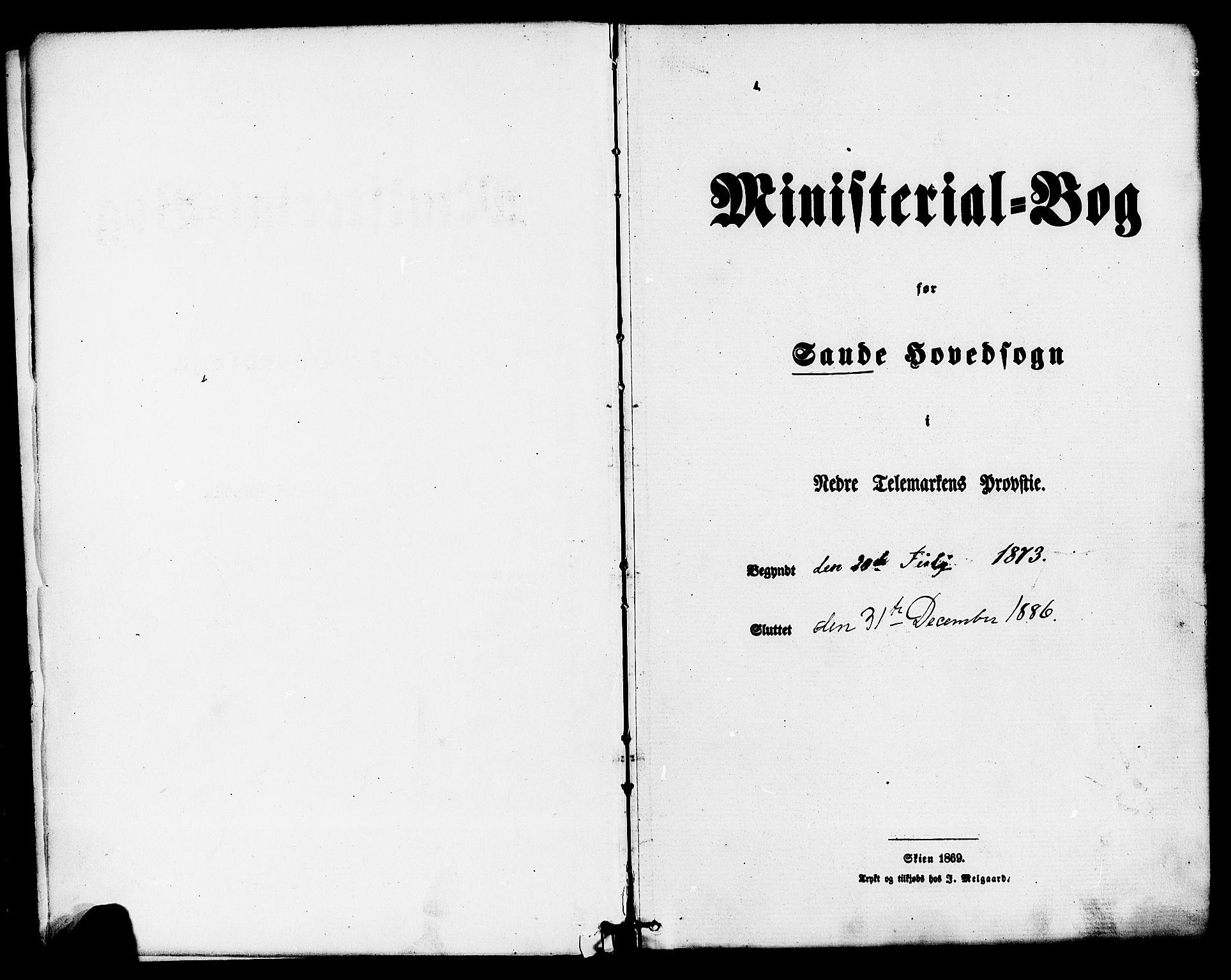SAKO, Sauherad kirkebøker, F/Fa/L0008: Ministerialbok nr. I 8, 1873-1886