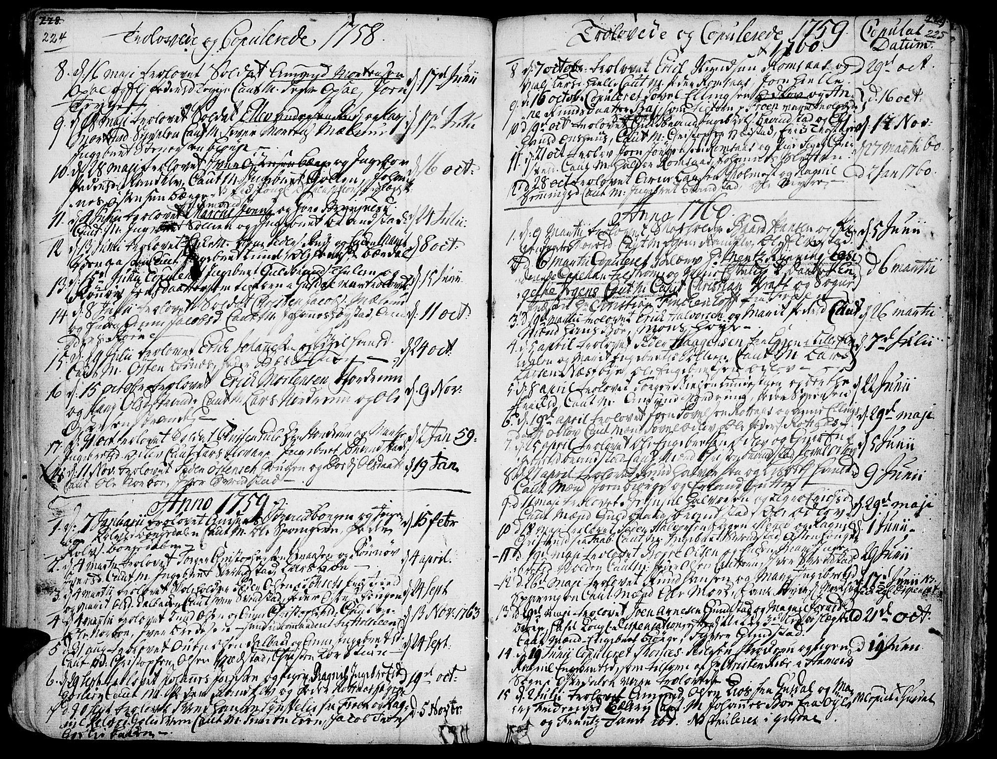 SAH, Ringebu prestekontor, Ministerialbok nr. 2, 1734-1780, s. 224-225