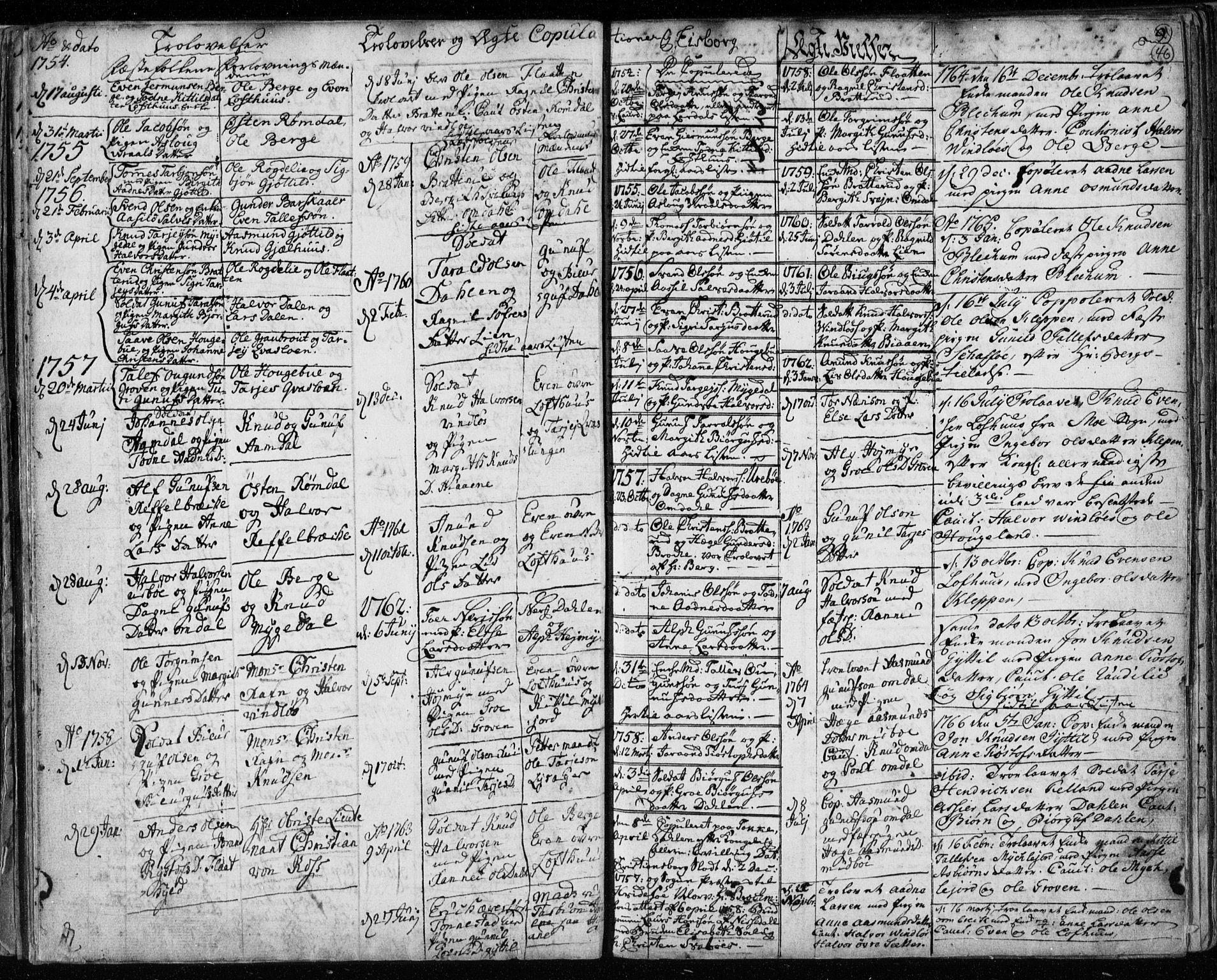 SAKO, Lårdal kirkebøker, F/Fa/L0003: Ministerialbok nr. I 3, 1754-1790, s. 46