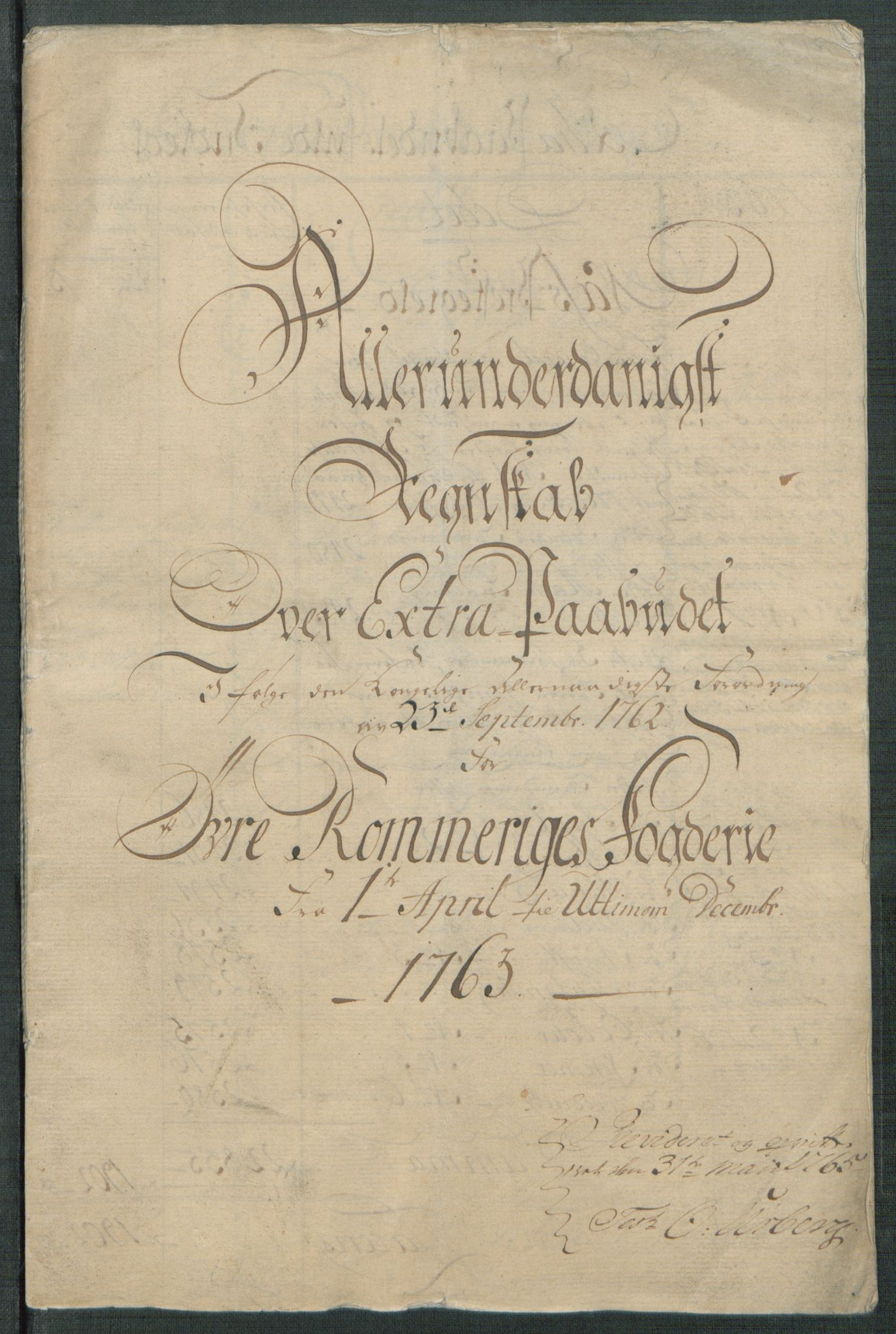 RA, Rentekammeret inntil 1814, Reviderte regnskaper, Fogderegnskap, R12/L0803: Ekstraskatten Øvre Romerike, 1763-1764, s. 5