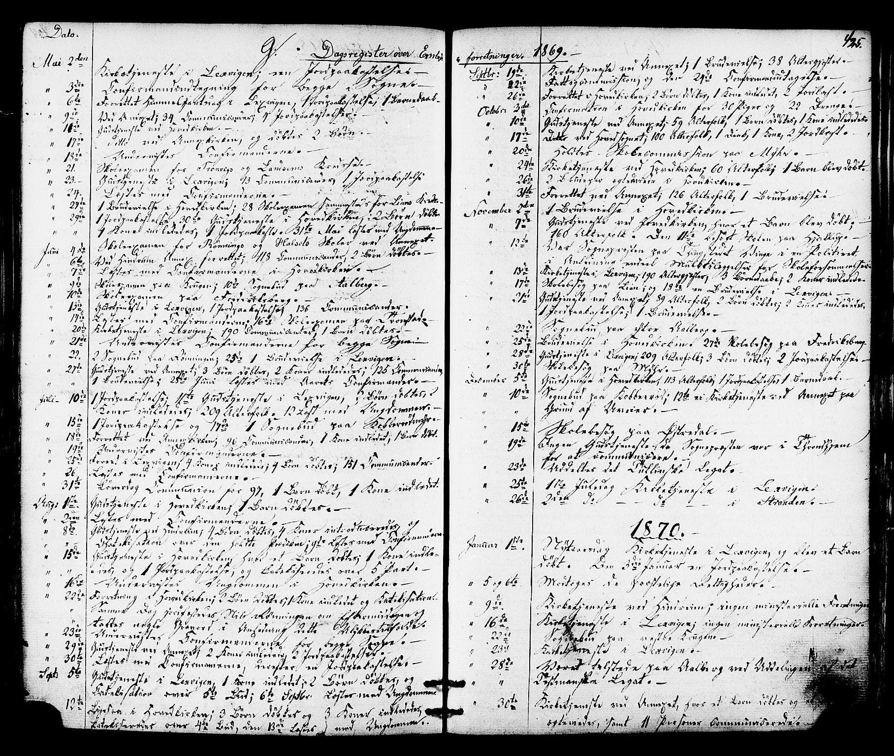 SAT, Ministerialprotokoller, klokkerbøker og fødselsregistre - Nord-Trøndelag, 701/L0009: Ministerialbok nr. 701A09 /1, 1864-1882, s. 425