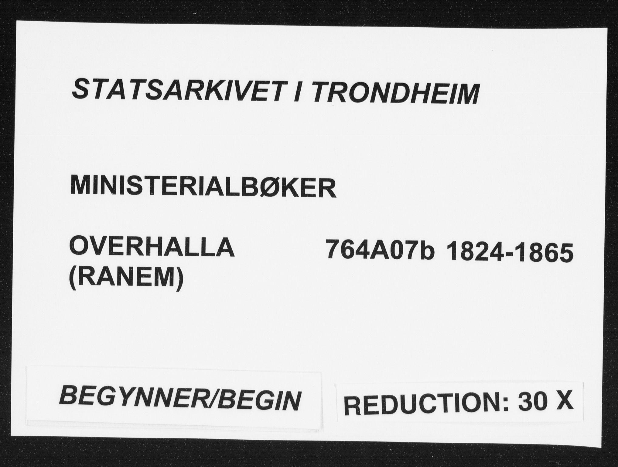 SAT, Ministerialprotokoller, klokkerbøker og fødselsregistre - Nord-Trøndelag, 764/L0552: Ministerialbok nr. 764A07b, 1824-1865