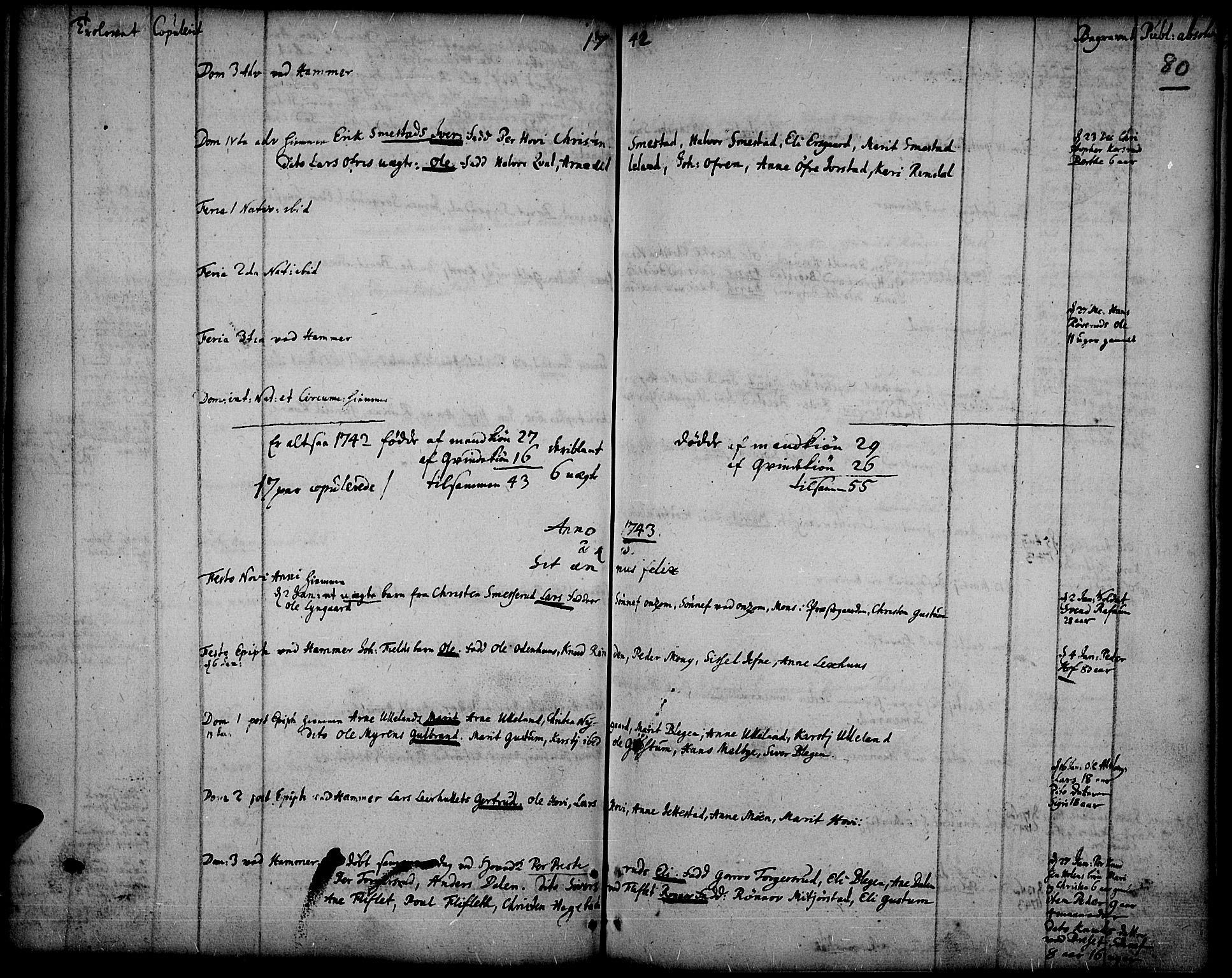 SAH, Fåberg prestekontor, Ministerialbok nr. 1, 1727-1775, s. 80
