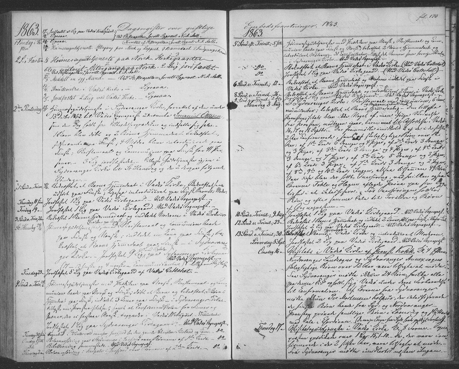 SATØ, Sør-Varanger sokneprestkontor, H/Ha/L0001kirke: Ministerialbok nr. 1, 1863-1872, s. 170