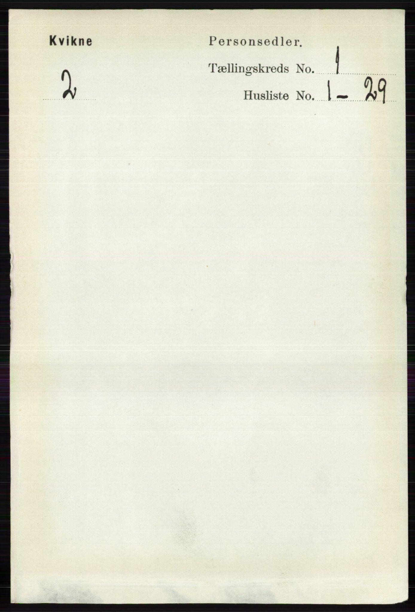 RA, Folketelling 1891 for 0440 Kvikne herred, 1891, s. 47