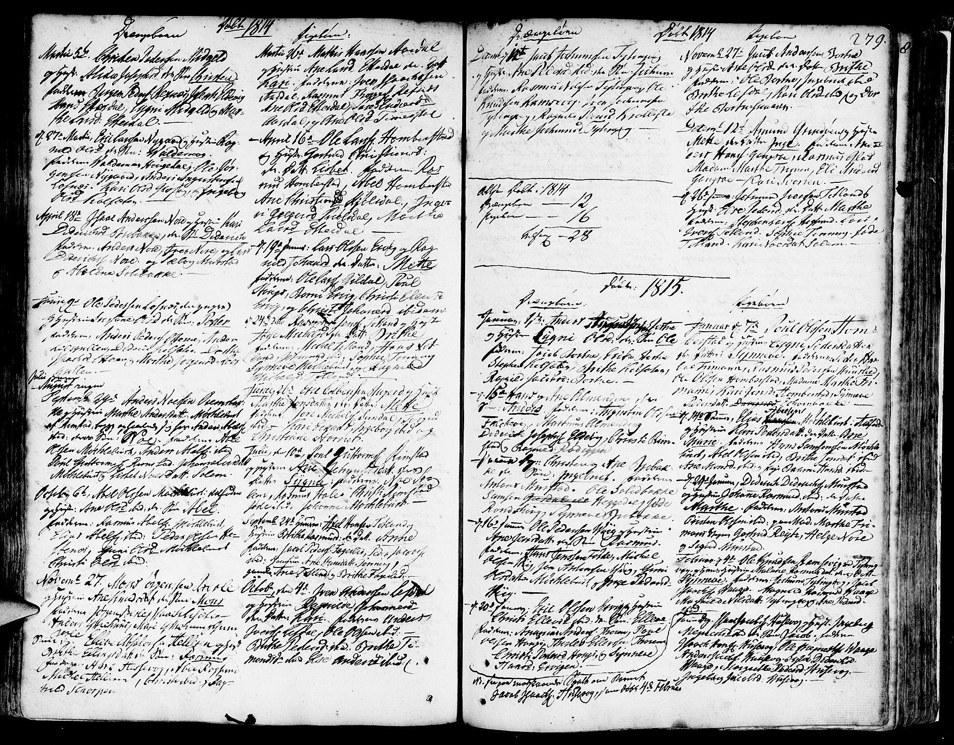 SAB, Davik Sokneprestembete, Ministerialbok nr. A 2, 1742-1816, s. 279
