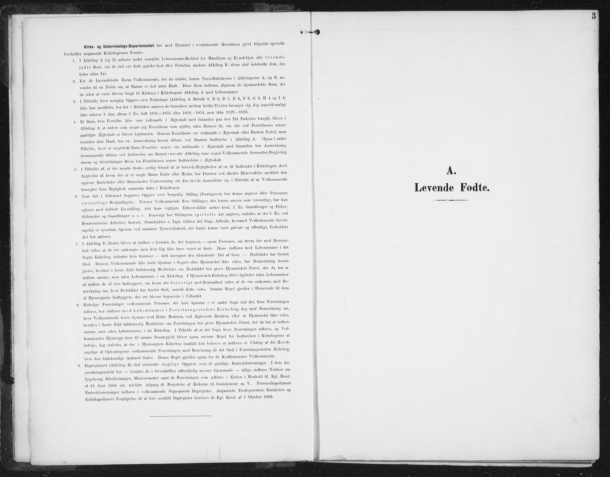 SAT, Ministerialprotokoller, klokkerbøker og fødselsregistre - Sør-Trøndelag, 674/L0872: Ministerialbok nr. 674A04, 1897-1907, s. 3