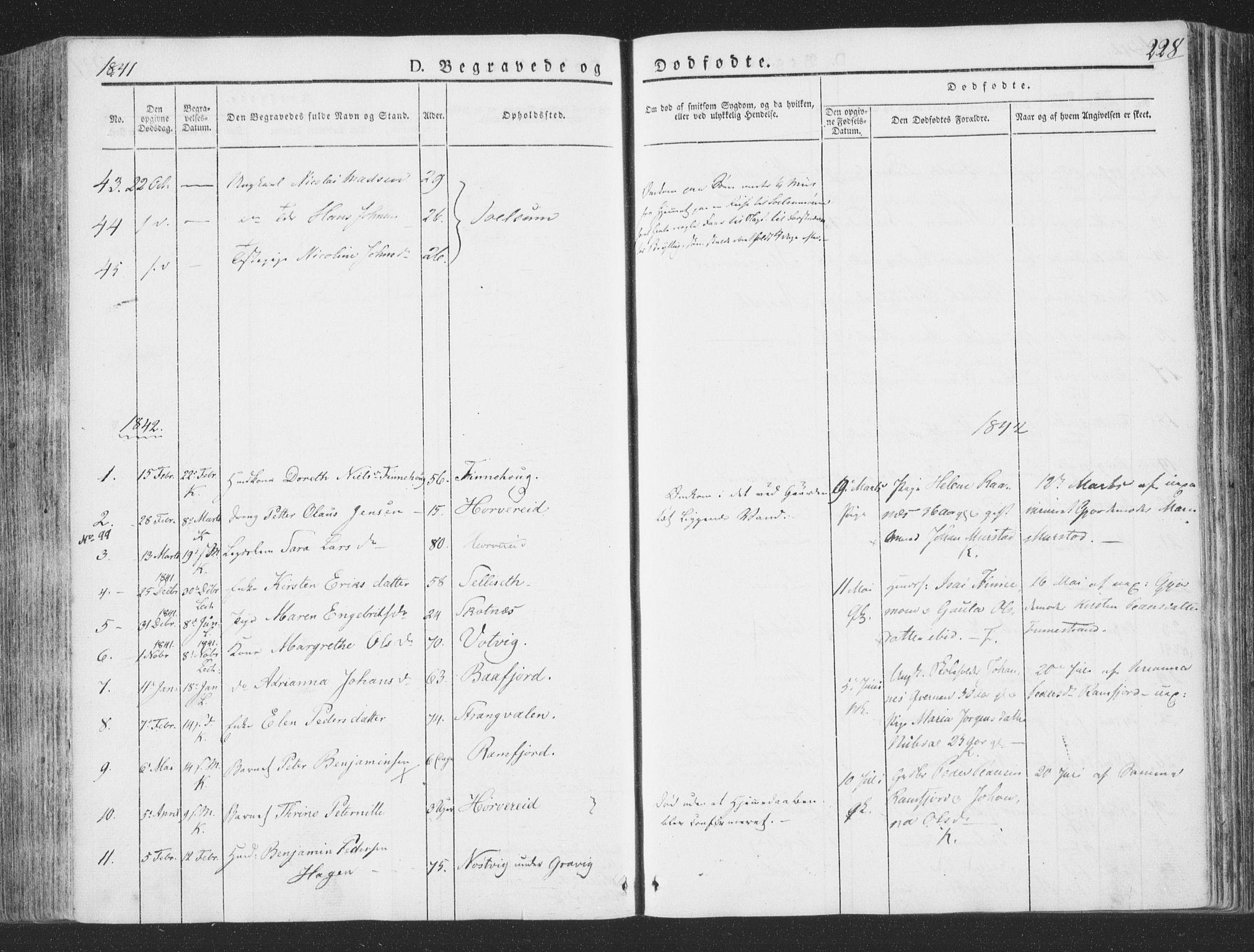 SAT, Ministerialprotokoller, klokkerbøker og fødselsregistre - Nord-Trøndelag, 780/L0639: Ministerialbok nr. 780A04, 1830-1844, s. 228