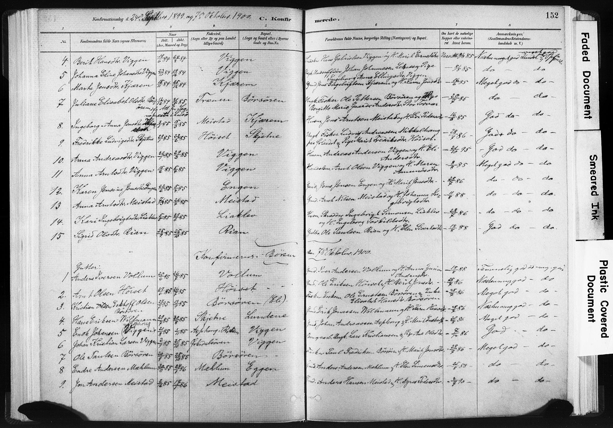 SAT, Ministerialprotokoller, klokkerbøker og fødselsregistre - Sør-Trøndelag, 665/L0773: Ministerialbok nr. 665A08, 1879-1905, s. 152