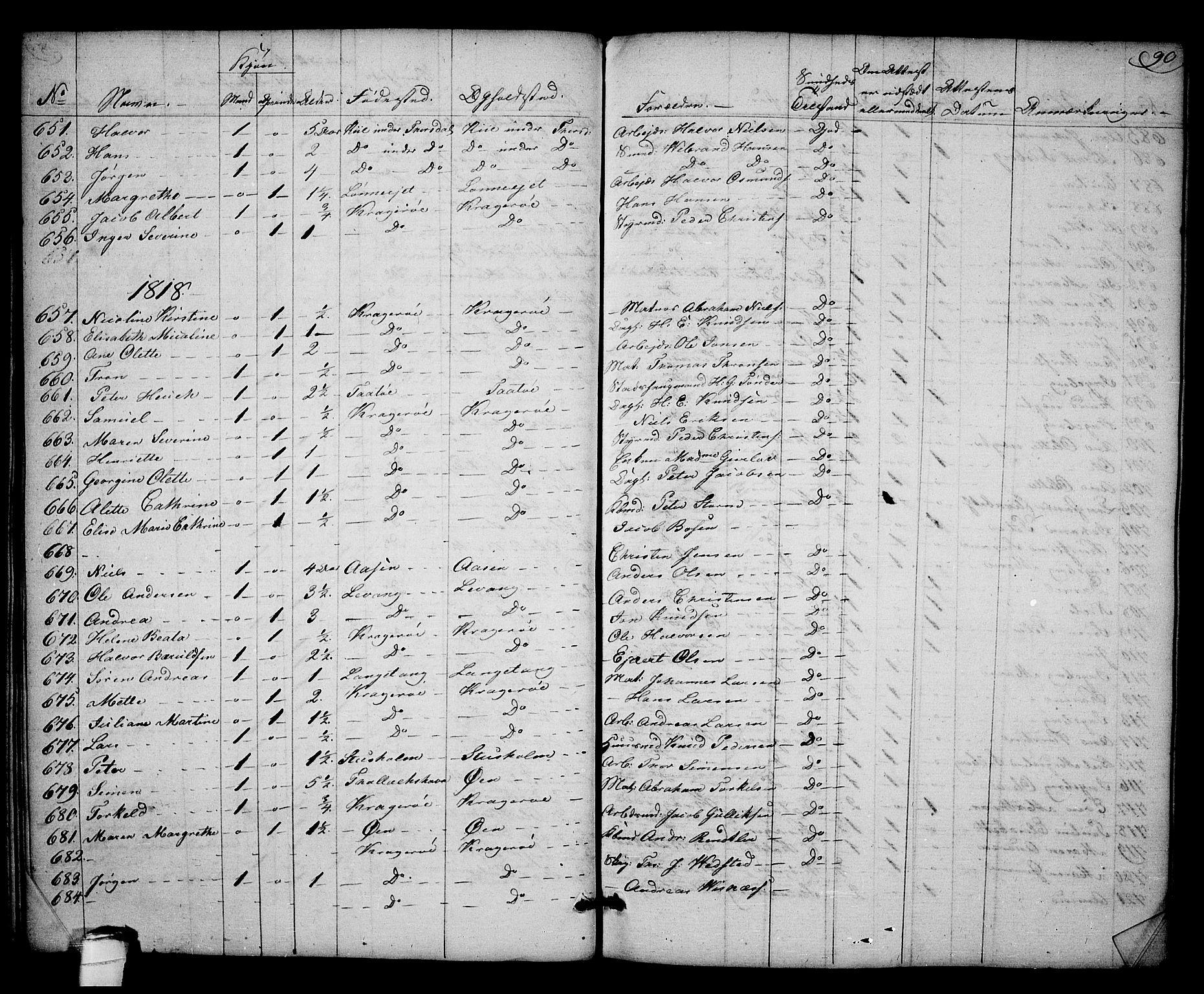 SAKO, Kragerø kirkebøker, F/Fa/L0003: Ministerialbok nr. 3, 1802-1813, s. 90