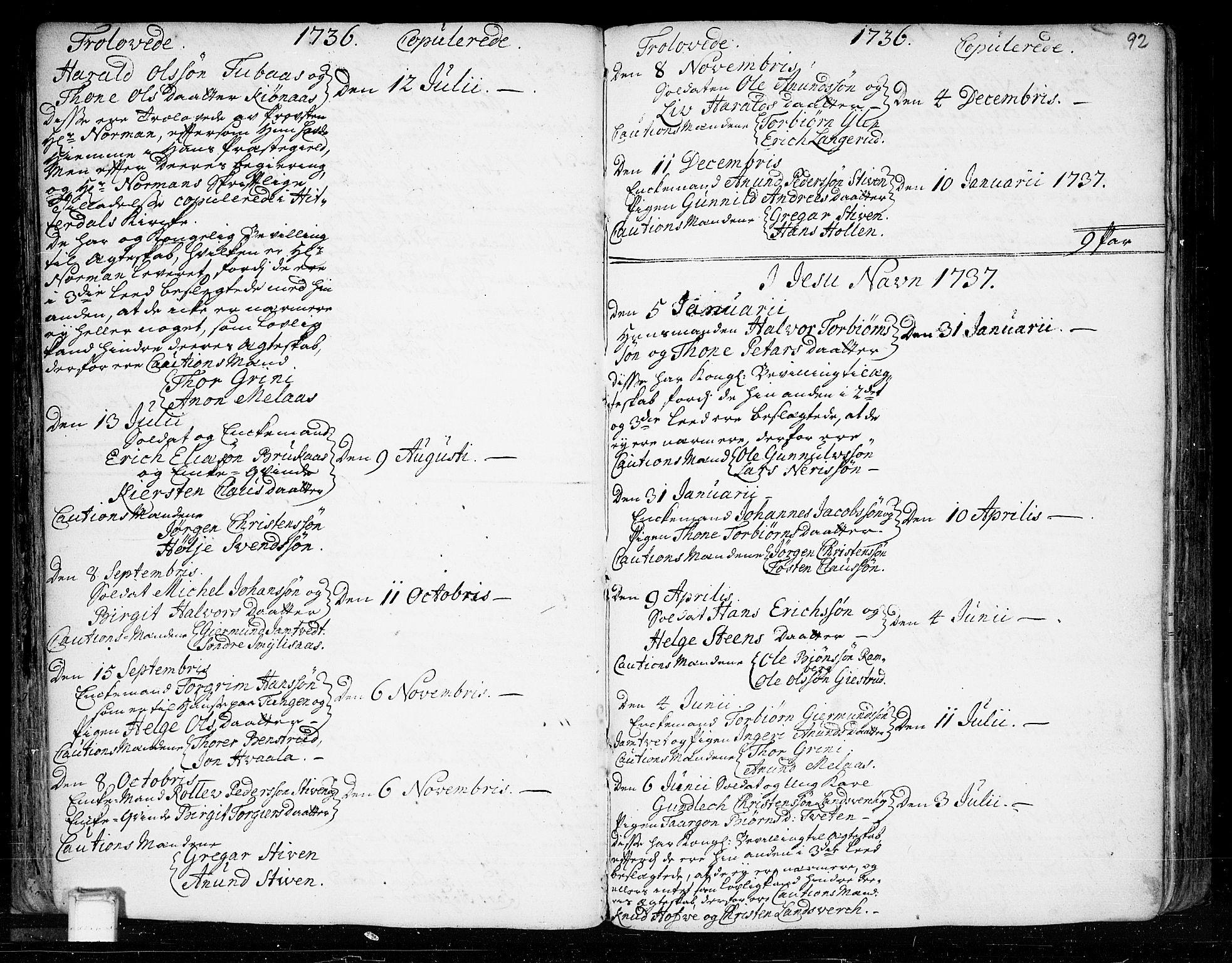 SAKO, Heddal kirkebøker, F/Fa/L0003: Ministerialbok nr. I 3, 1723-1783, s. 92