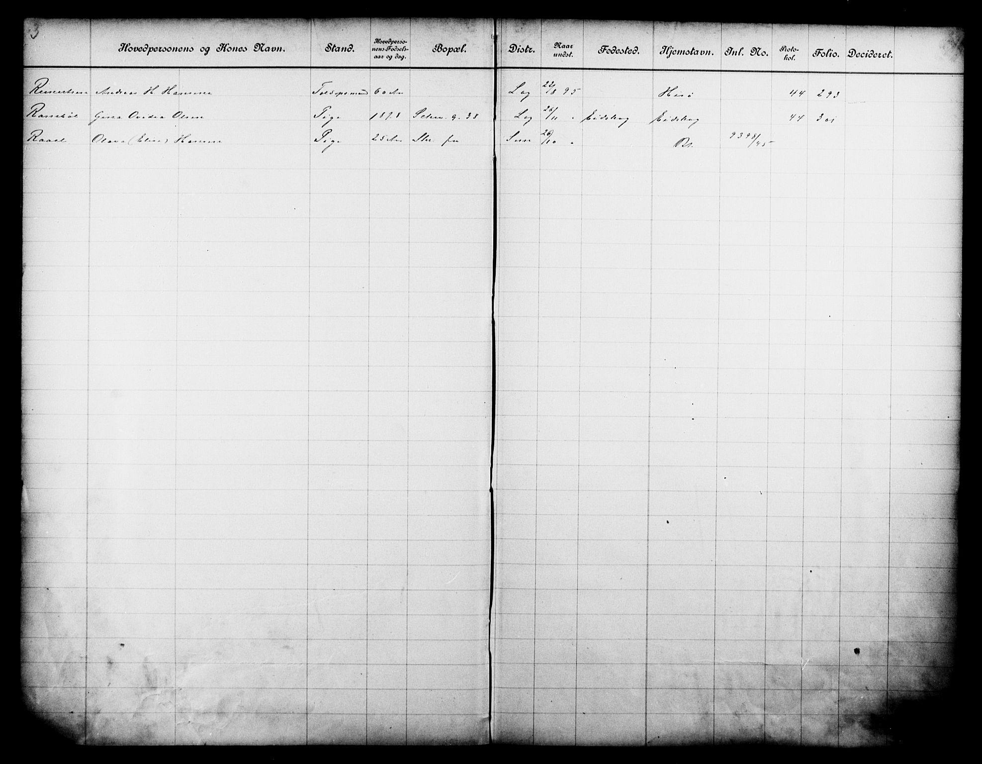 OBA, Fattigvesenet, Fb/L0015: Hjemstavnsregister, 1895, s. 175