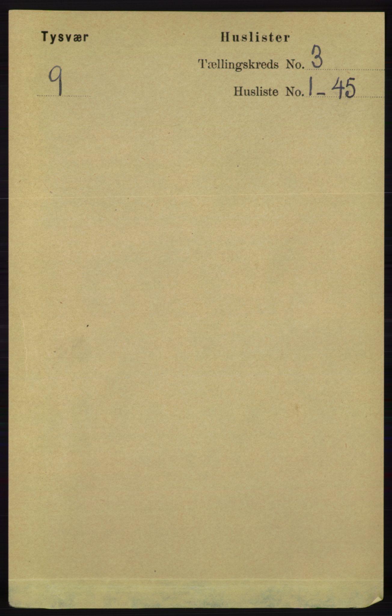 RA, Folketelling 1891 for 1146 Tysvær herred, 1891, s. 1182