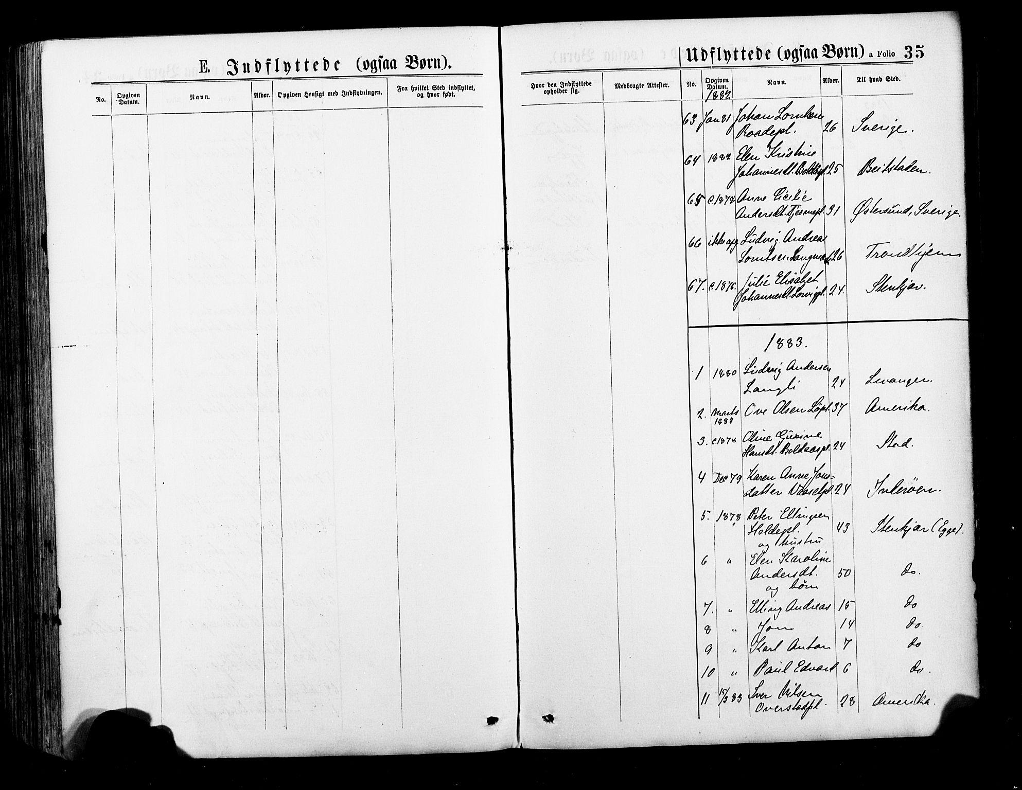 SAT, Ministerialprotokoller, klokkerbøker og fødselsregistre - Nord-Trøndelag, 735/L0348: Ministerialbok nr. 735A09 /1, 1873-1883, s. 35