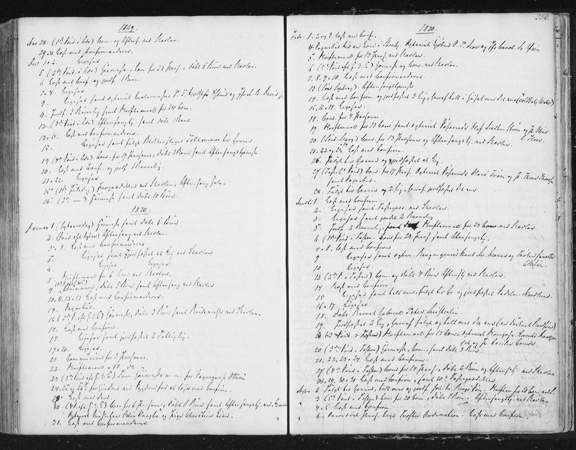 SAT, Ministerialprotokoller, klokkerbøker og fødselsregistre - Sør-Trøndelag, 602/L0127: Residerende kapellans bok nr. 602B01, 1821-1875, s. 256