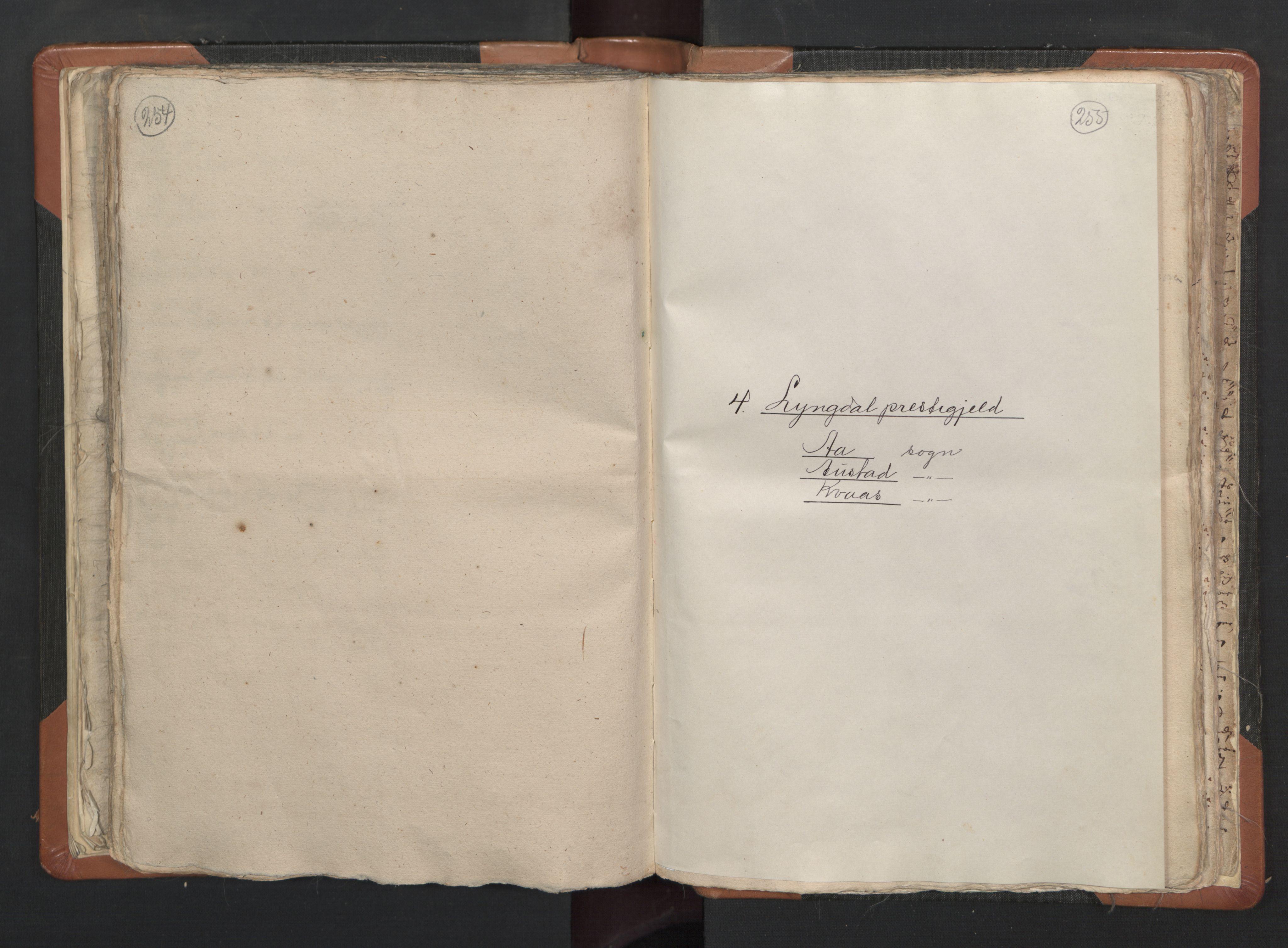 RA, Sogneprestenes manntall 1664-1666, nr. 16: Lista prosti, 1664-1666, s. 254-255