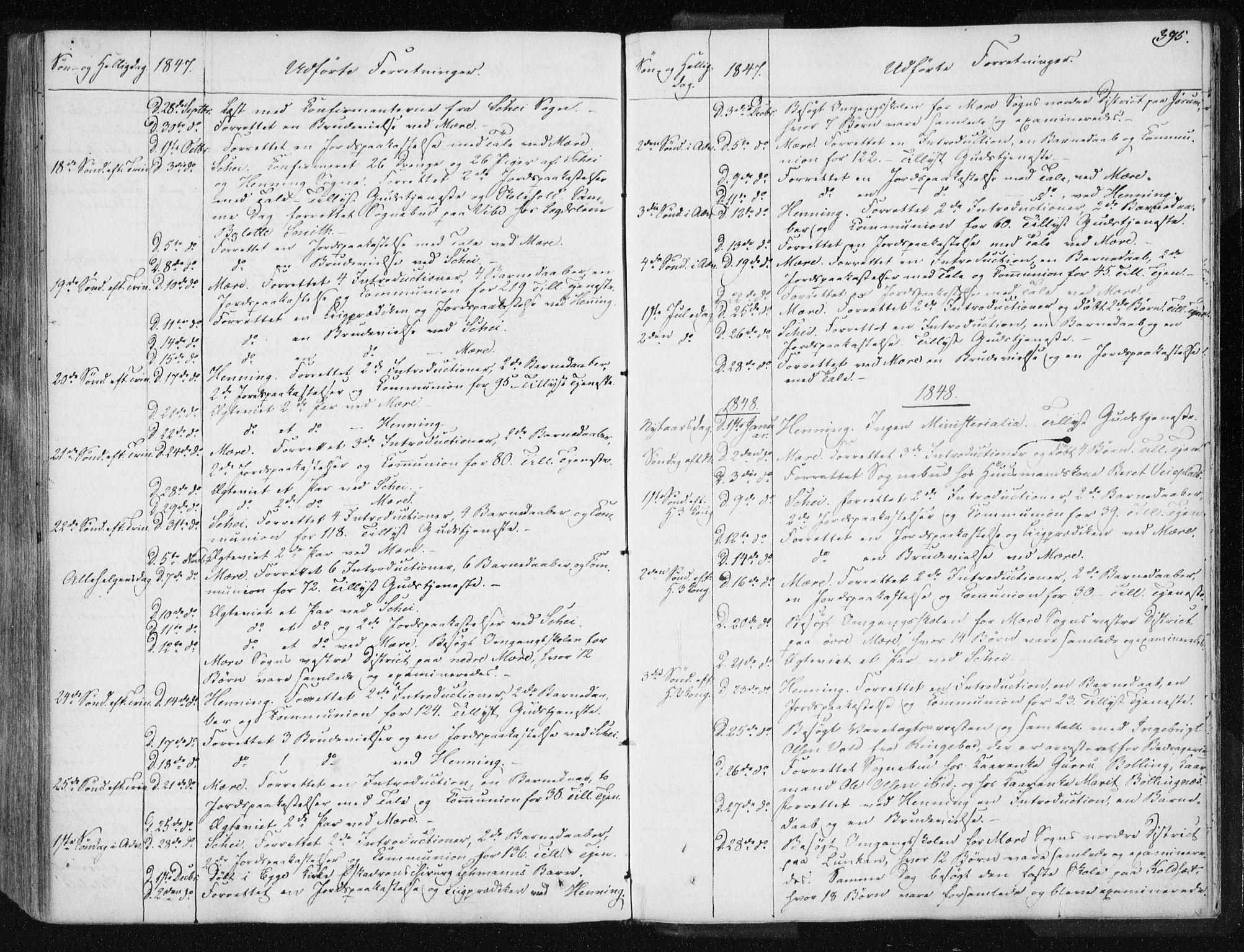 SAT, Ministerialprotokoller, klokkerbøker og fødselsregistre - Nord-Trøndelag, 735/L0339: Ministerialbok nr. 735A06 /1, 1836-1848, s. 395