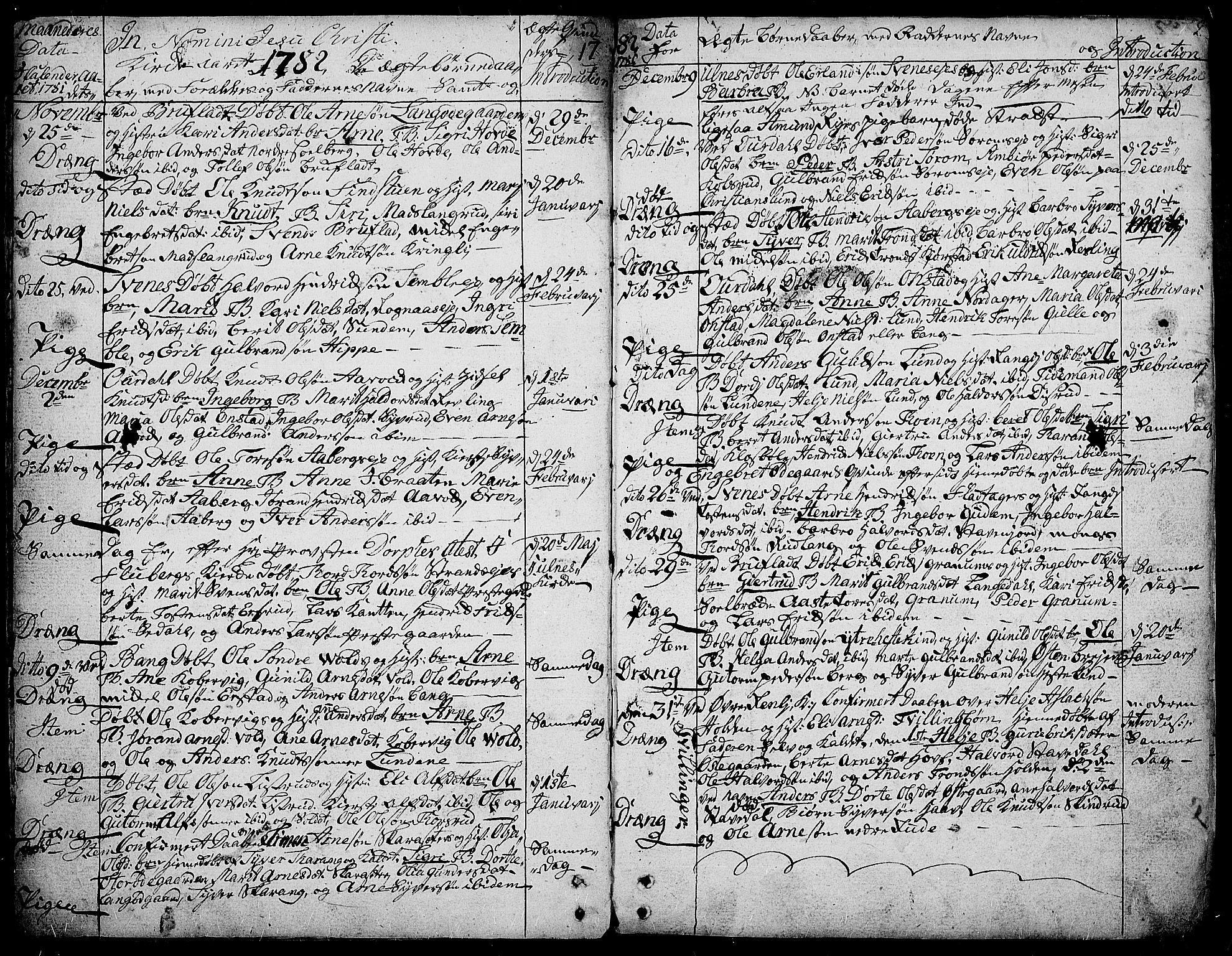 SAH, Aurdal prestekontor, Ministerialbok nr. 6, 1781-1804, s. 2