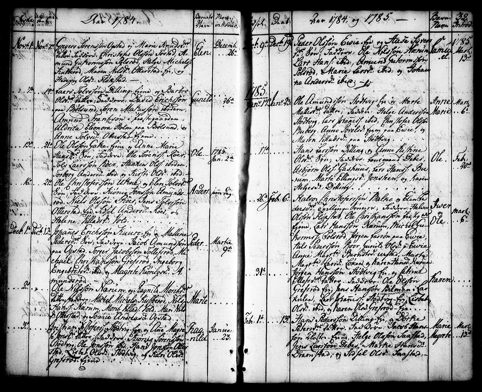 SAO, Rygge prestekontor Kirkebøker, F/Fa/L0002: Ministerialbok nr. 2, 1771-1814, s. 32