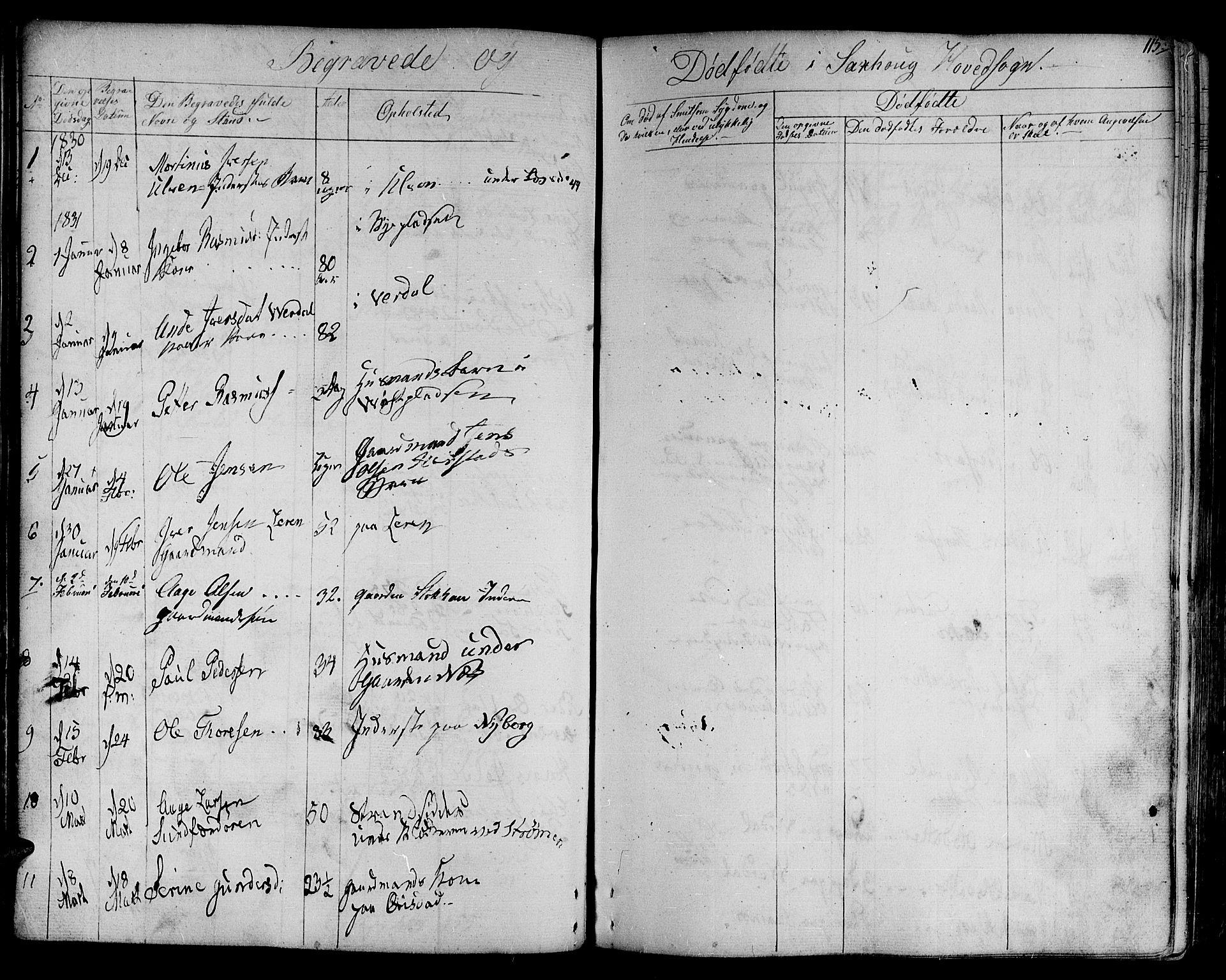 SAT, Ministerialprotokoller, klokkerbøker og fødselsregistre - Nord-Trøndelag, 730/L0277: Ministerialbok nr. 730A06 /1, 1830-1839, s. 115