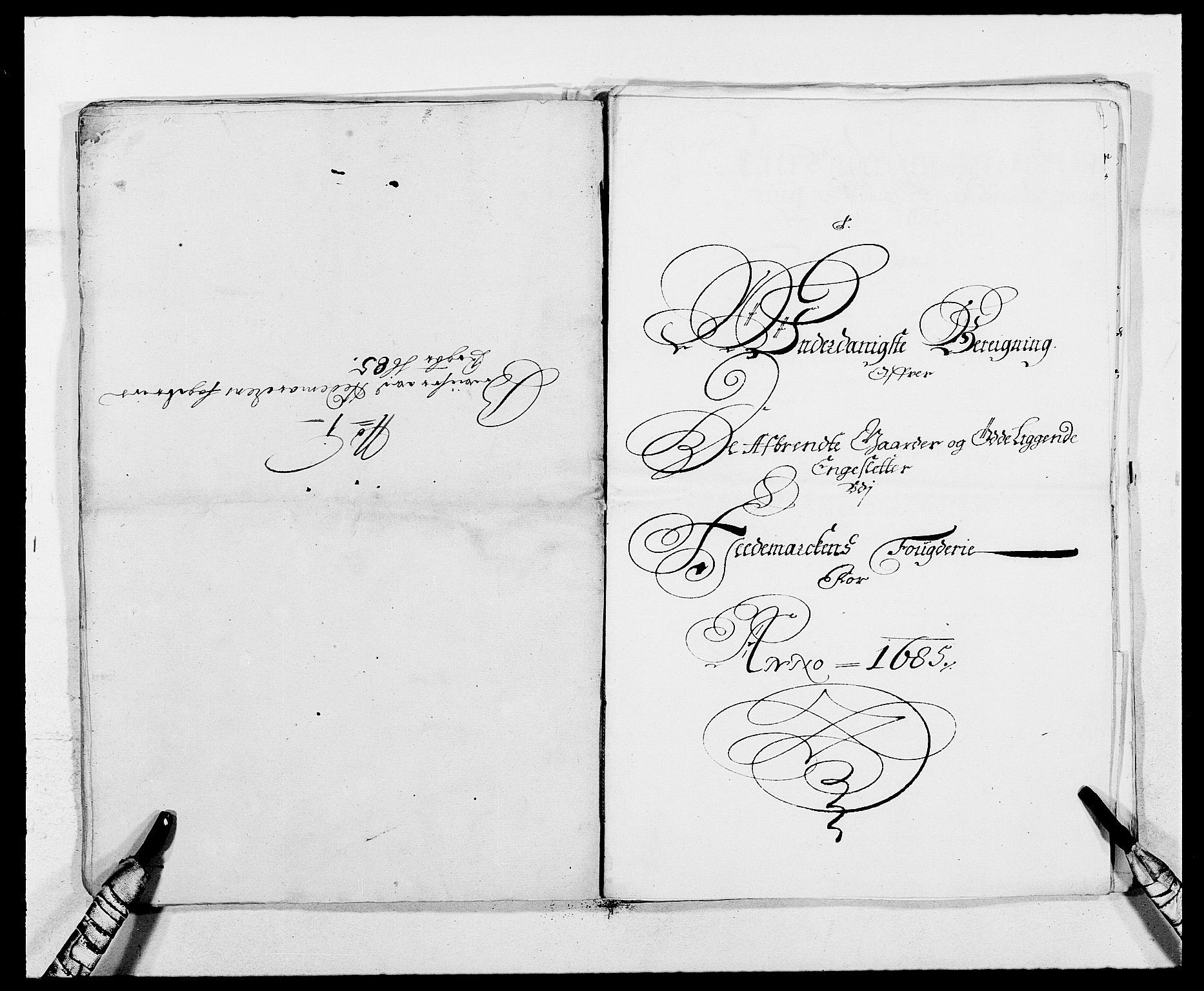 RA, Rentekammeret inntil 1814, Reviderte regnskaper, Fogderegnskap, R16/L1026: Fogderegnskap Hedmark, 1685, s. 160