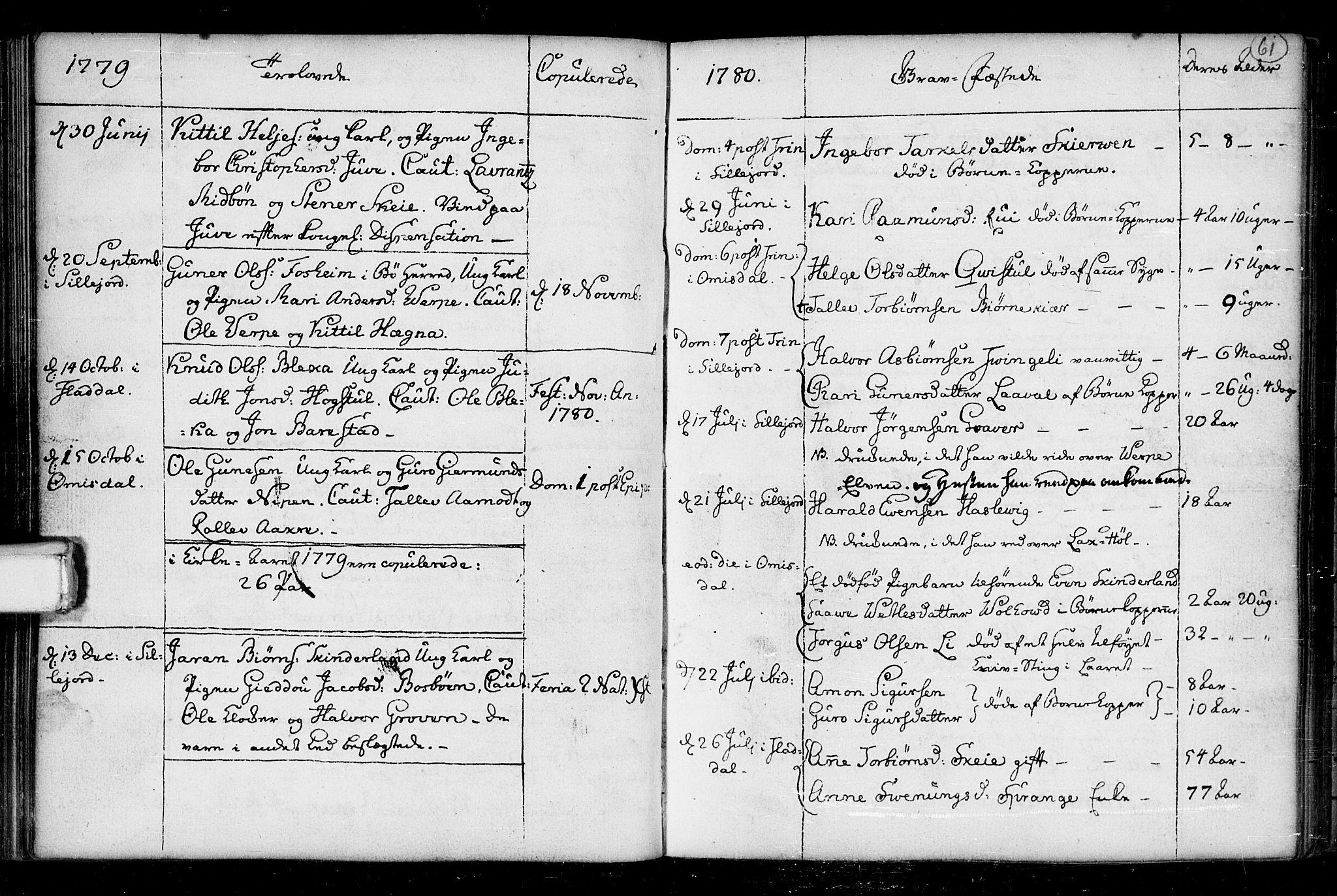 SAKO, Seljord kirkebøker, F/Fa/L0008: Ministerialbok nr. I 8, 1755-1814, s. 61