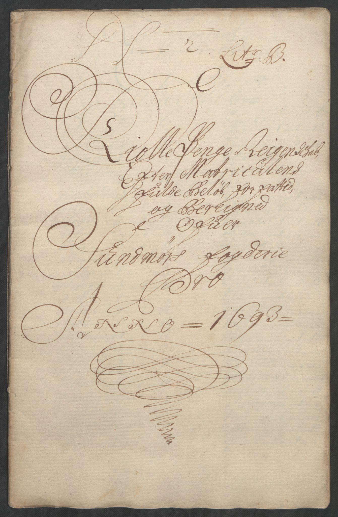 RA, Rentekammeret inntil 1814, Reviderte regnskaper, Fogderegnskap, R54/L3554: Fogderegnskap Sunnmøre, 1691-1693, s. 381
