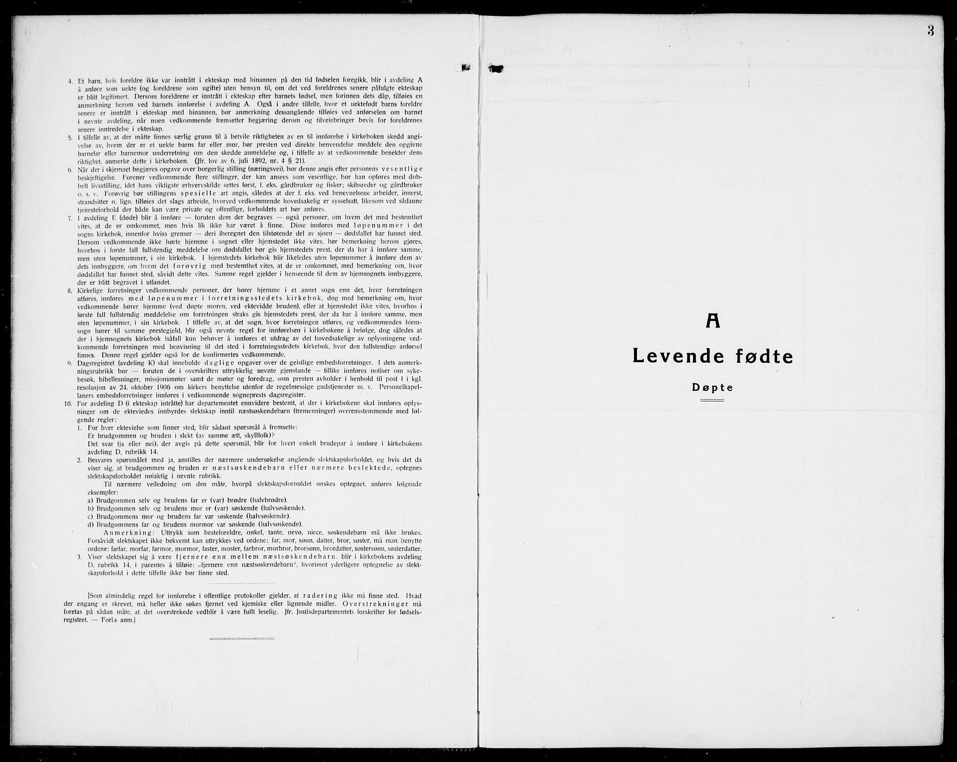 SAK, Arendal sokneprestkontor, Trefoldighet, F/Fb/L0008: Klokkerbok nr. B 8, 1928-1939, s. 3
