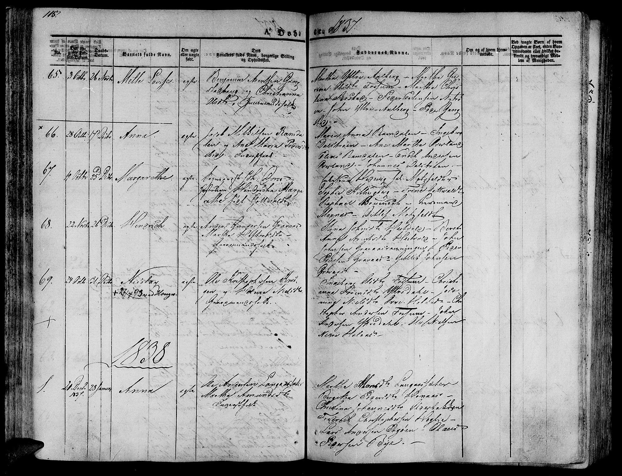 SAT, Ministerialprotokoller, klokkerbøker og fødselsregistre - Nord-Trøndelag, 701/L0006: Ministerialbok nr. 701A06, 1825-1841, s. 115