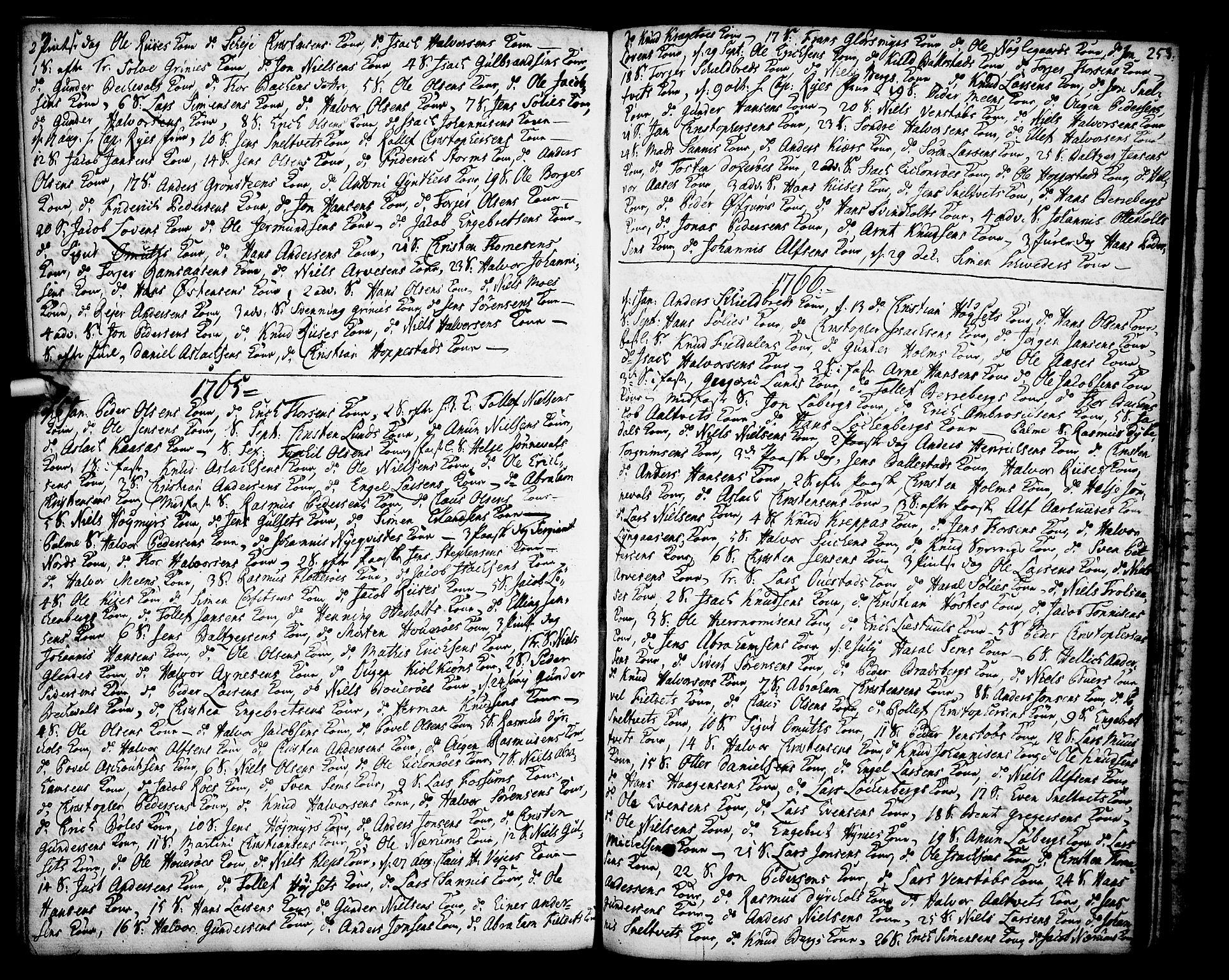 SAKO, Gjerpen kirkebøker, F/Fa/L0002: Ministerialbok nr. 2, 1747-1795, s. 253