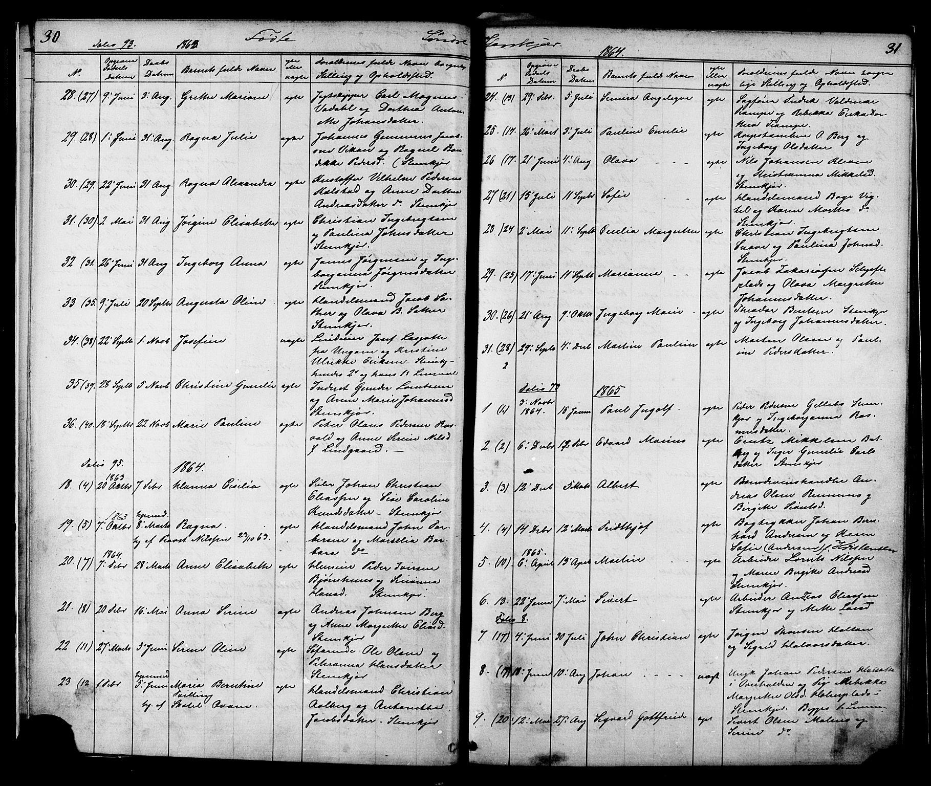 SAT, Ministerialprotokoller, klokkerbøker og fødselsregistre - Nord-Trøndelag, 739/L0367: Ministerialbok nr. 739A01 /1, 1838-1868, s. 30-31