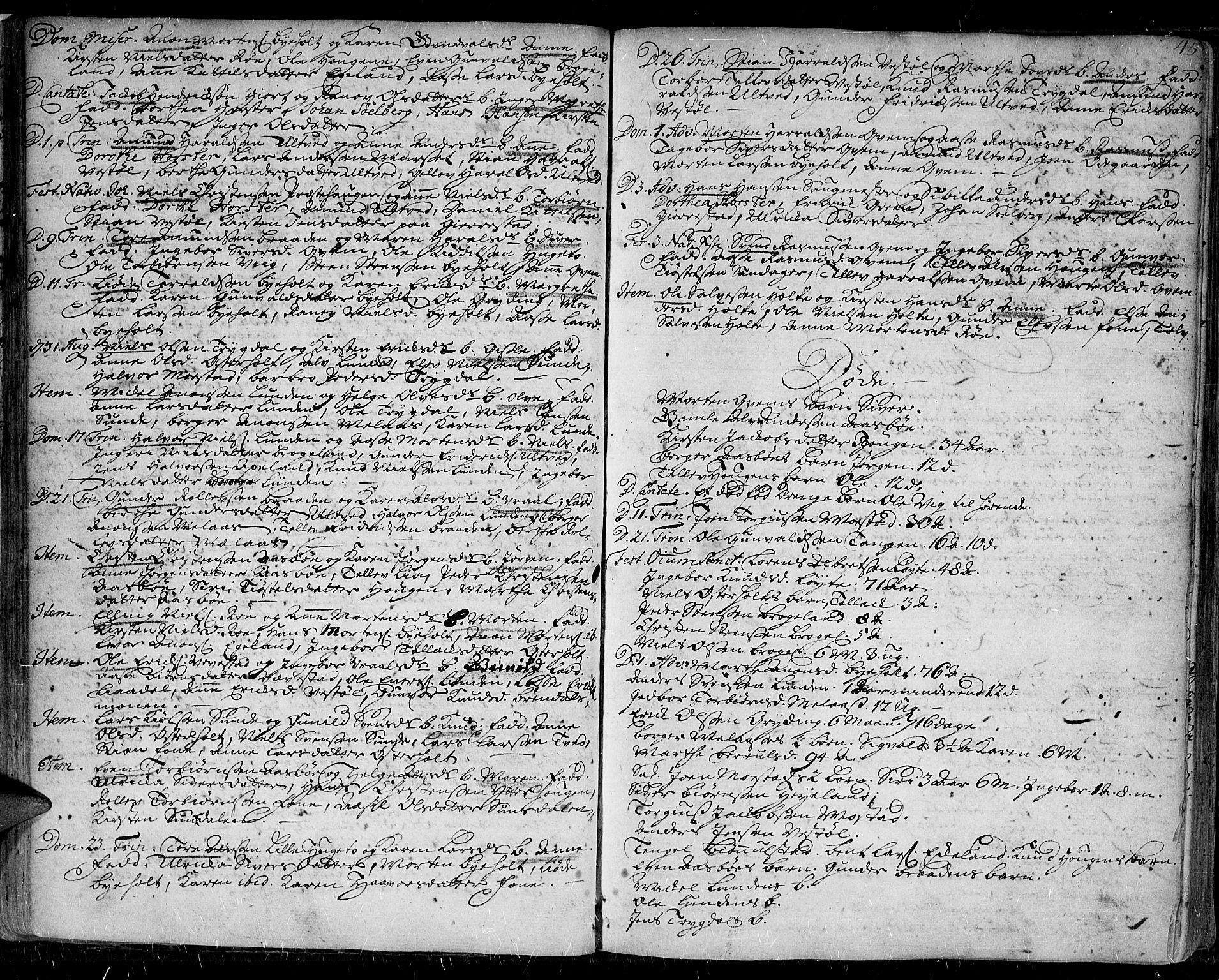 SAK, Gjerstad sokneprestkontor, F/Fa/Faa/L0002: Ministerialbok nr. A 2, 1717-1779, s. 45