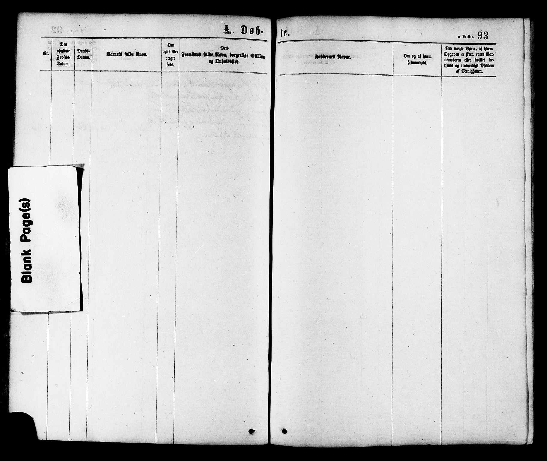SAT, Ministerialprotokoller, klokkerbøker og fødselsregistre - Nord-Trøndelag, 758/L0516: Ministerialbok nr. 758A03 /3, 1869-1879, s. 93