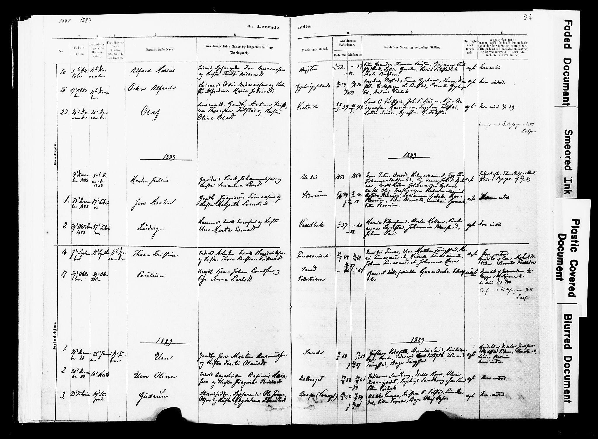 SAT, Ministerialprotokoller, klokkerbøker og fødselsregistre - Nord-Trøndelag, 744/L0420: Ministerialbok nr. 744A04, 1882-1904, s. 24