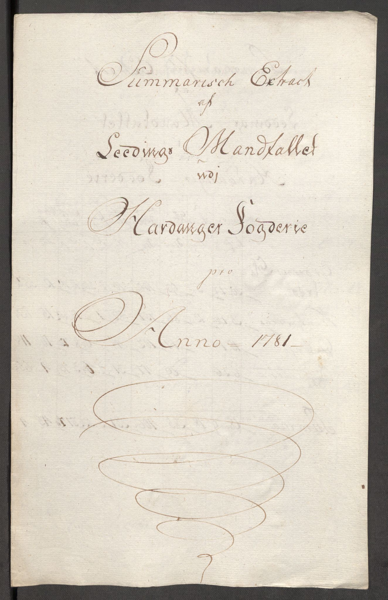 RA, Rentekammeret inntil 1814, Reviderte regnskaper, Fogderegnskap, R48/L3097: Fogderegnskap Sunnhordland og Hardanger, 1781, s. 298