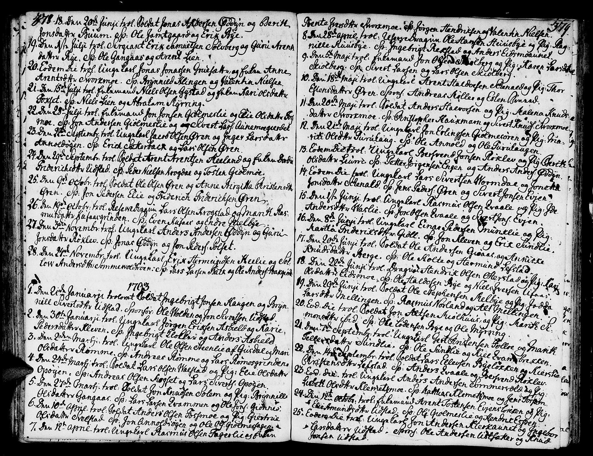 SAT, Ministerialprotokoller, klokkerbøker og fødselsregistre - Sør-Trøndelag, 668/L0802: Ministerialbok nr. 668A02, 1776-1799, s. 378-379