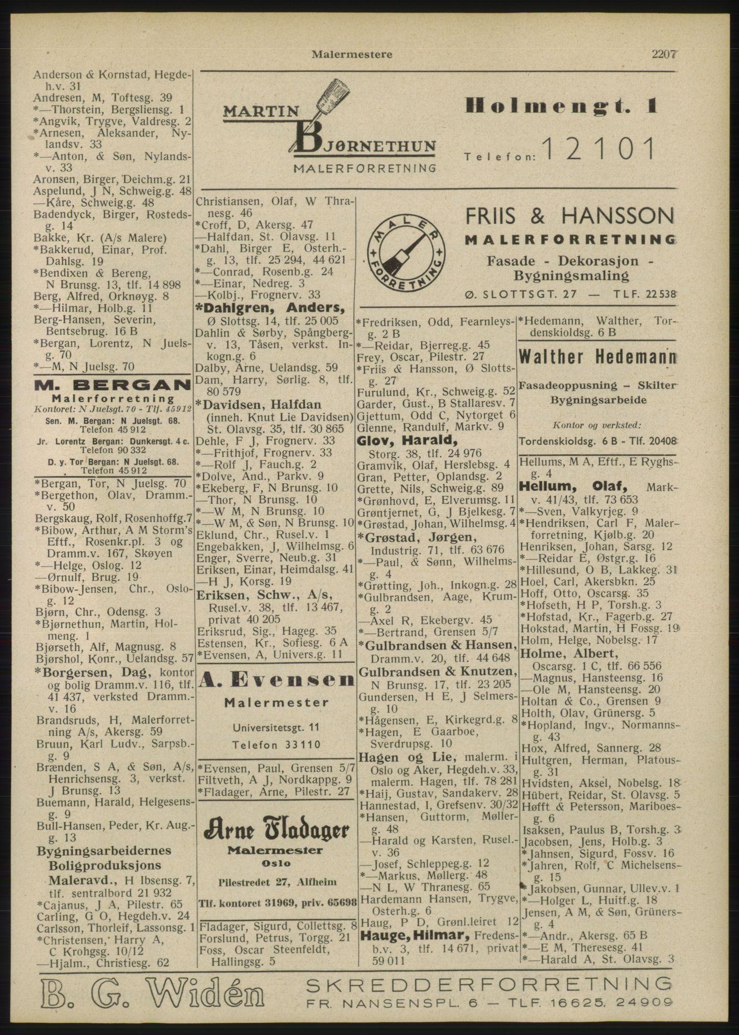 RA, Oslo adressebok (publikasjon)*, 1946, s. 2207