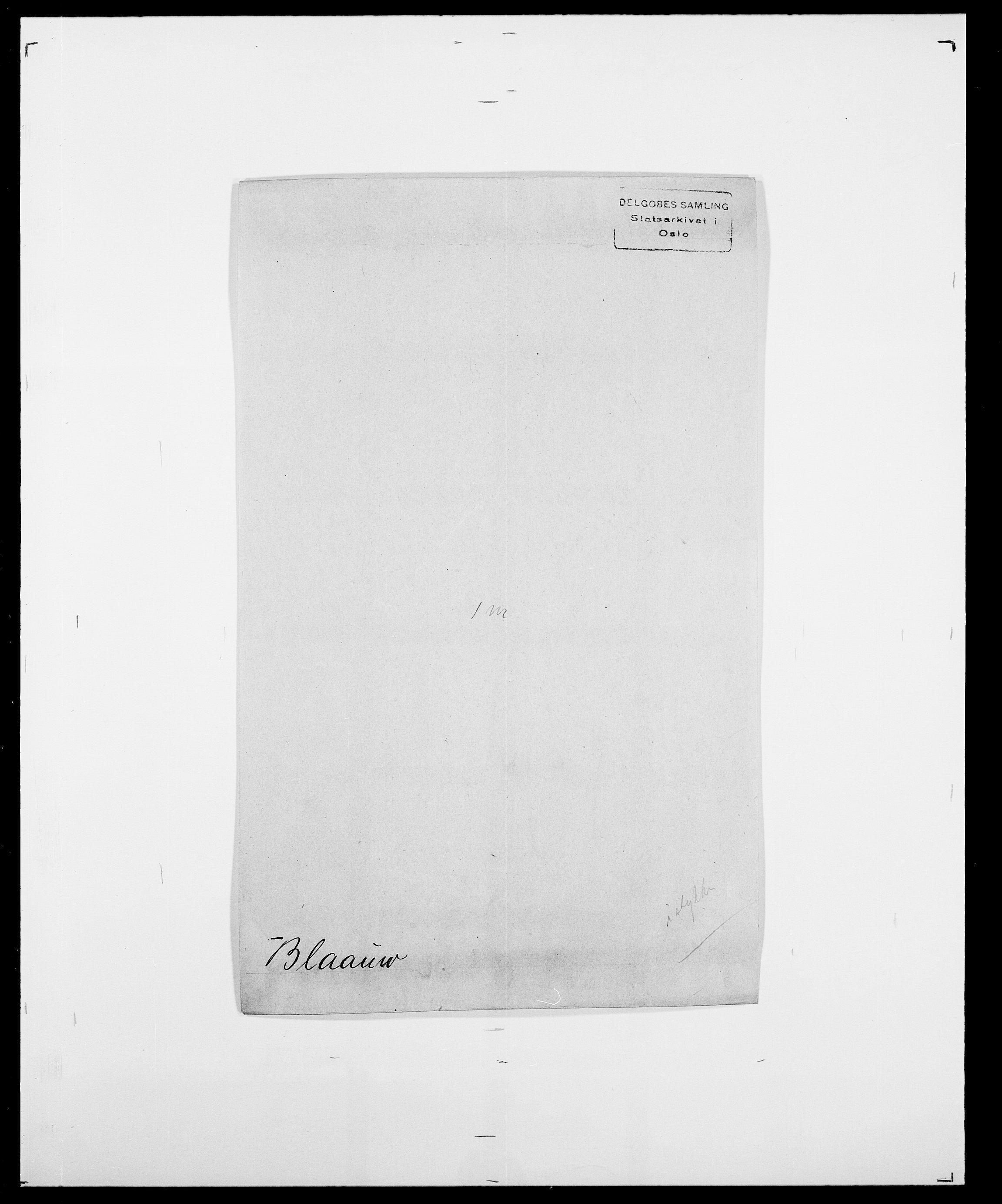 SAO, Delgobe, Charles Antoine - samling, D/Da/L0004: Bergendahl - Blære, s. 511