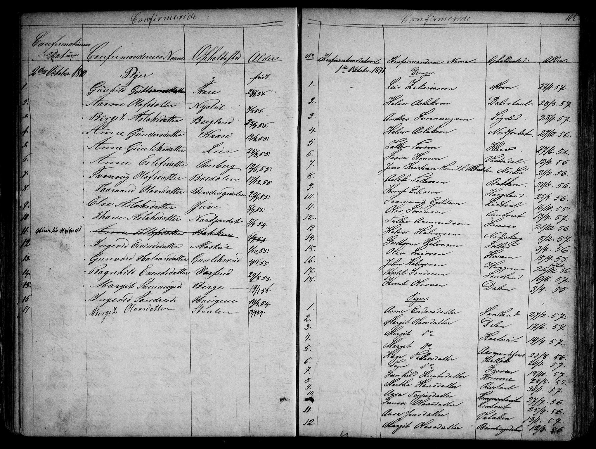 SAKO, Kviteseid kirkebøker, G/Gb/L0002: Klokkerbok nr. II 2, 1850-1892, s. 102