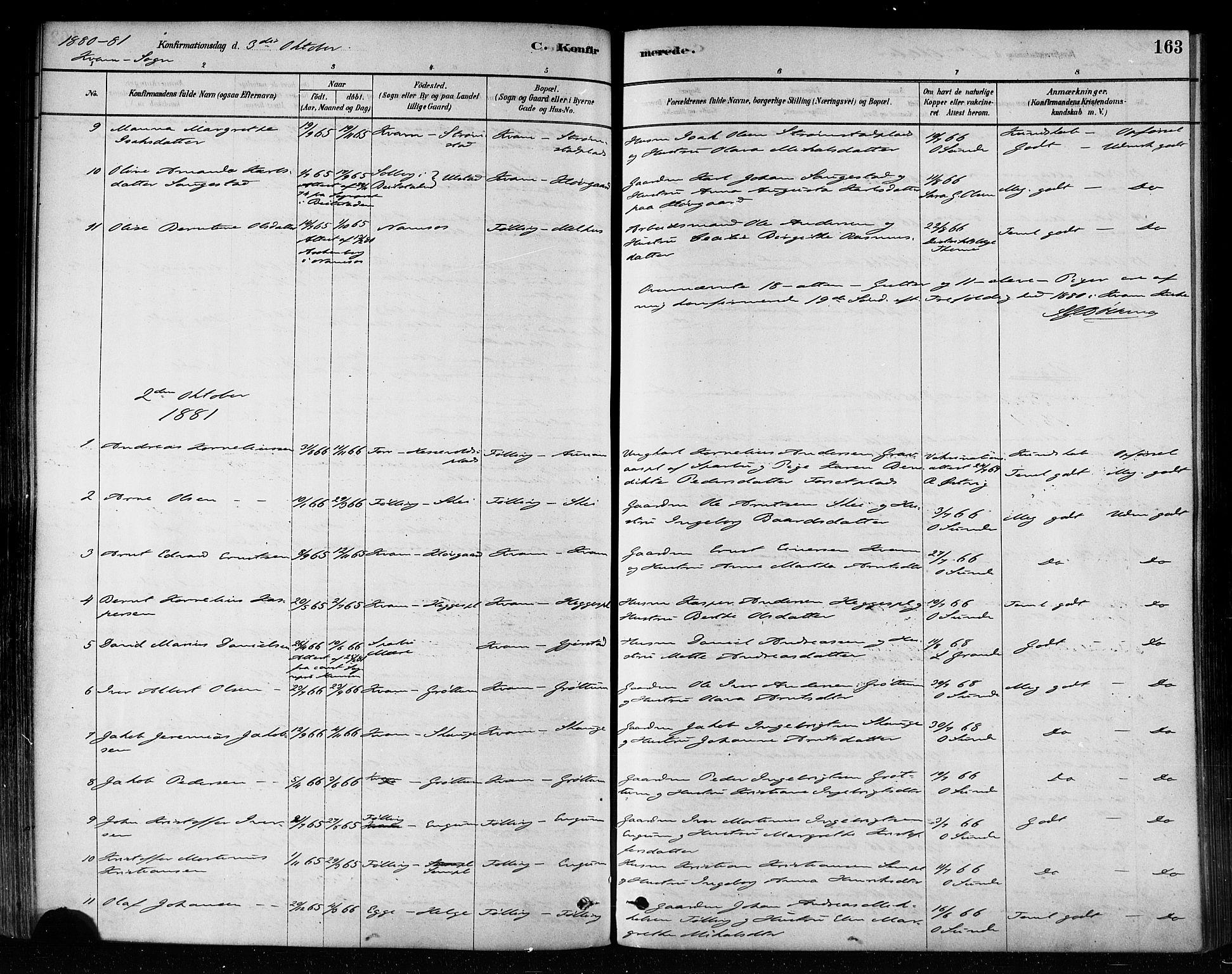 SAT, Ministerialprotokoller, klokkerbøker og fødselsregistre - Nord-Trøndelag, 746/L0449: Ministerialbok nr. 746A07 /2, 1878-1899, s. 163