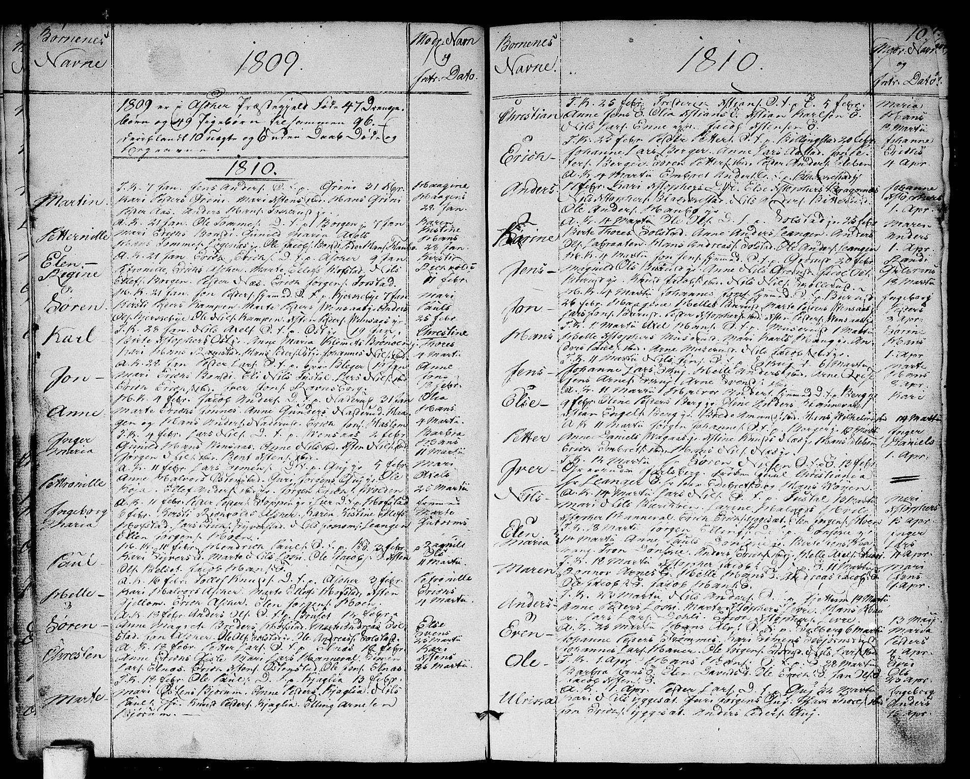 SAO, Asker prestekontor Kirkebøker, F/Fa/L0005: Ministerialbok nr. I 5, 1807-1813, s. 10
