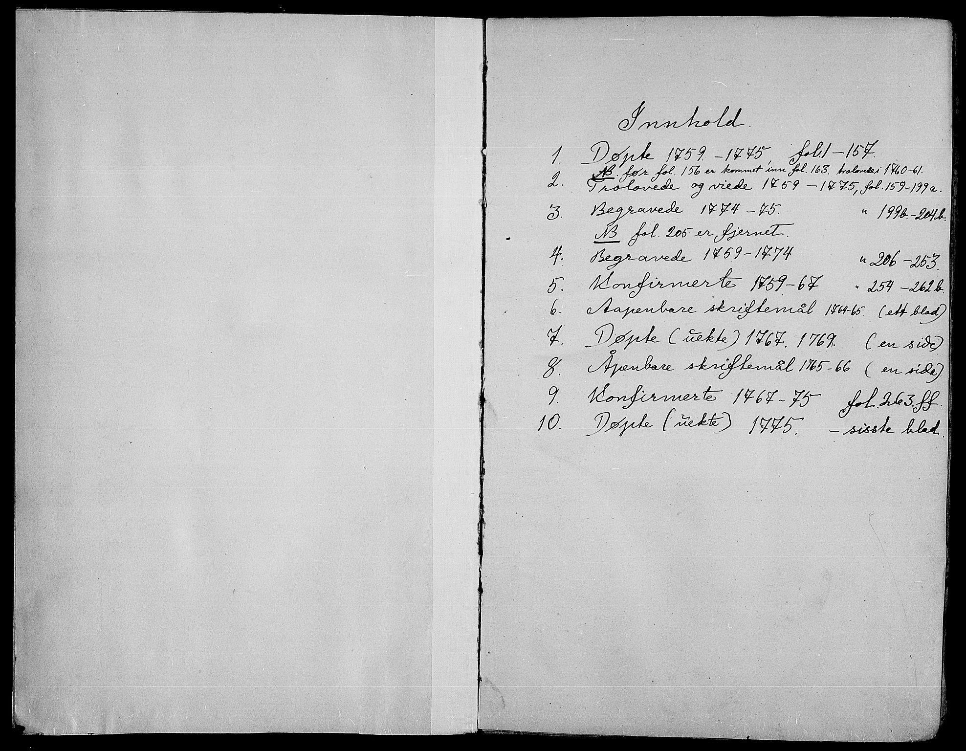 SAH, Gran prestekontor, Ministerialbok nr. 4, 1759-1775