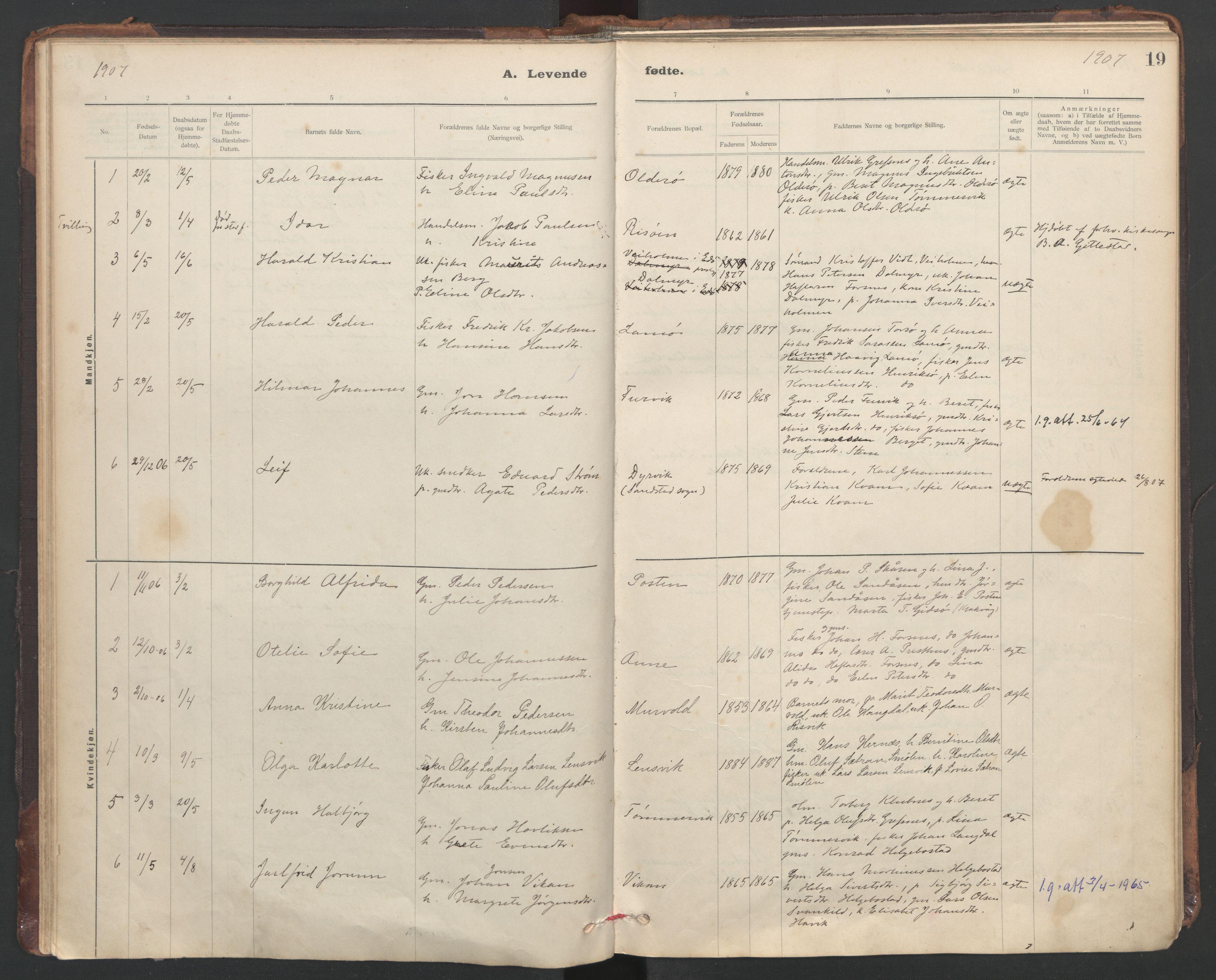 SAT, Ministerialprotokoller, klokkerbøker og fødselsregistre - Sør-Trøndelag, 635/L0552: Ministerialbok nr. 635A02, 1899-1919, s. 19