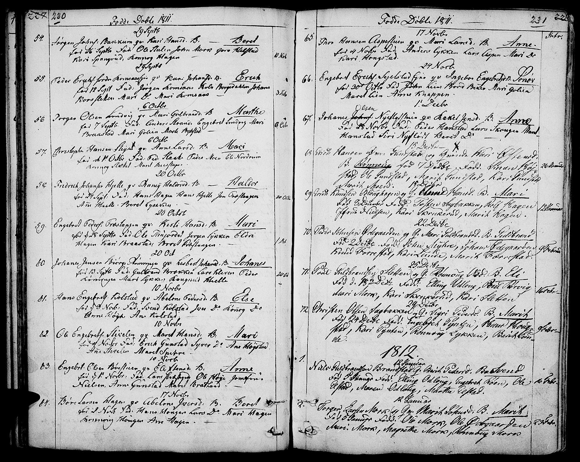 SAH, Ringebu prestekontor, Ministerialbok nr. 3, 1781-1820, s. 230-231
