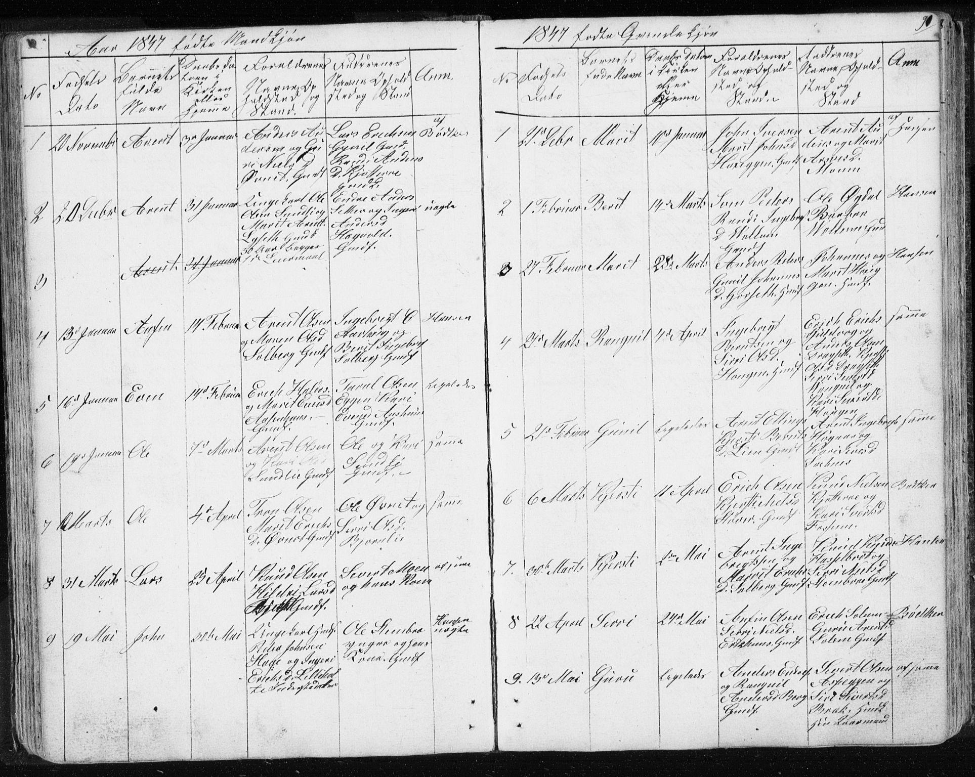 SAT, Ministerialprotokoller, klokkerbøker og fødselsregistre - Sør-Trøndelag, 689/L1043: Klokkerbok nr. 689C02, 1816-1892, s. 91
