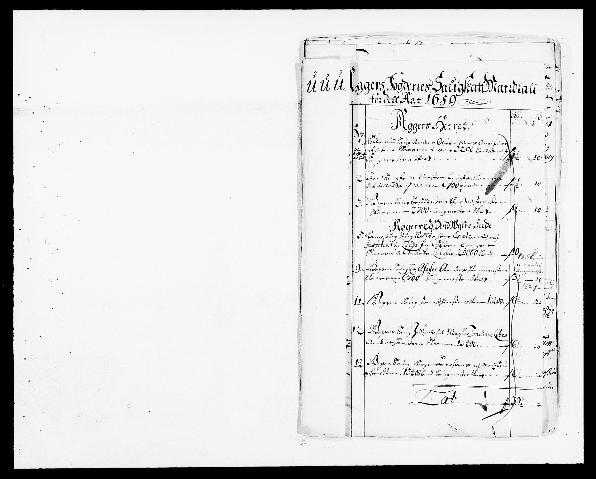 RA, Rentekammeret inntil 1814, Reviderte regnskaper, Fogderegnskap, R08/L0423: Fogderegnskap Aker, 1687-1689, s. 47